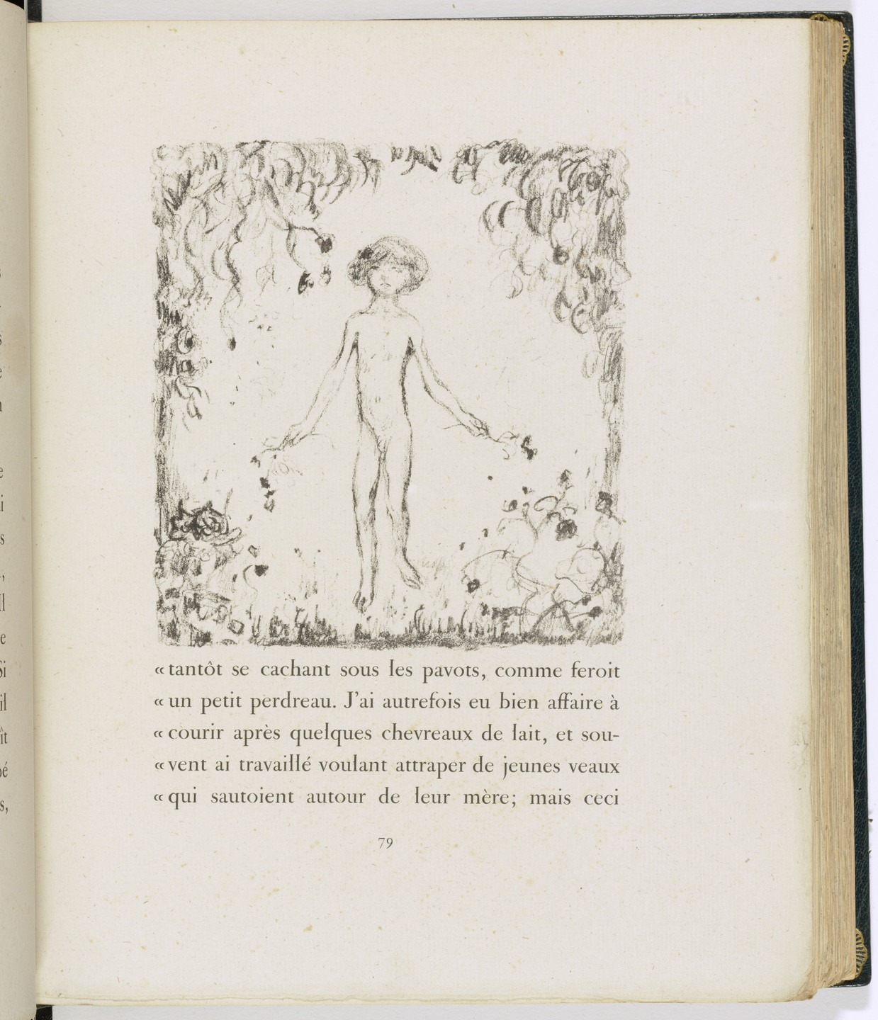 Pierre Bonnard. In-text plate (page 79) from Daphnis et Chloé. 1902