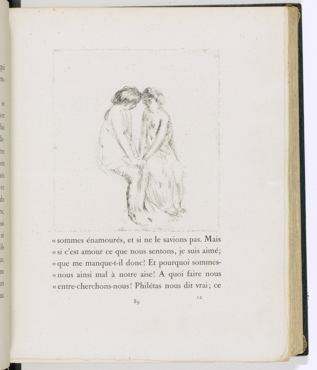 Pierre Bonnard. In-text plate (page 89) from Daphnis et Chloé. 1902
