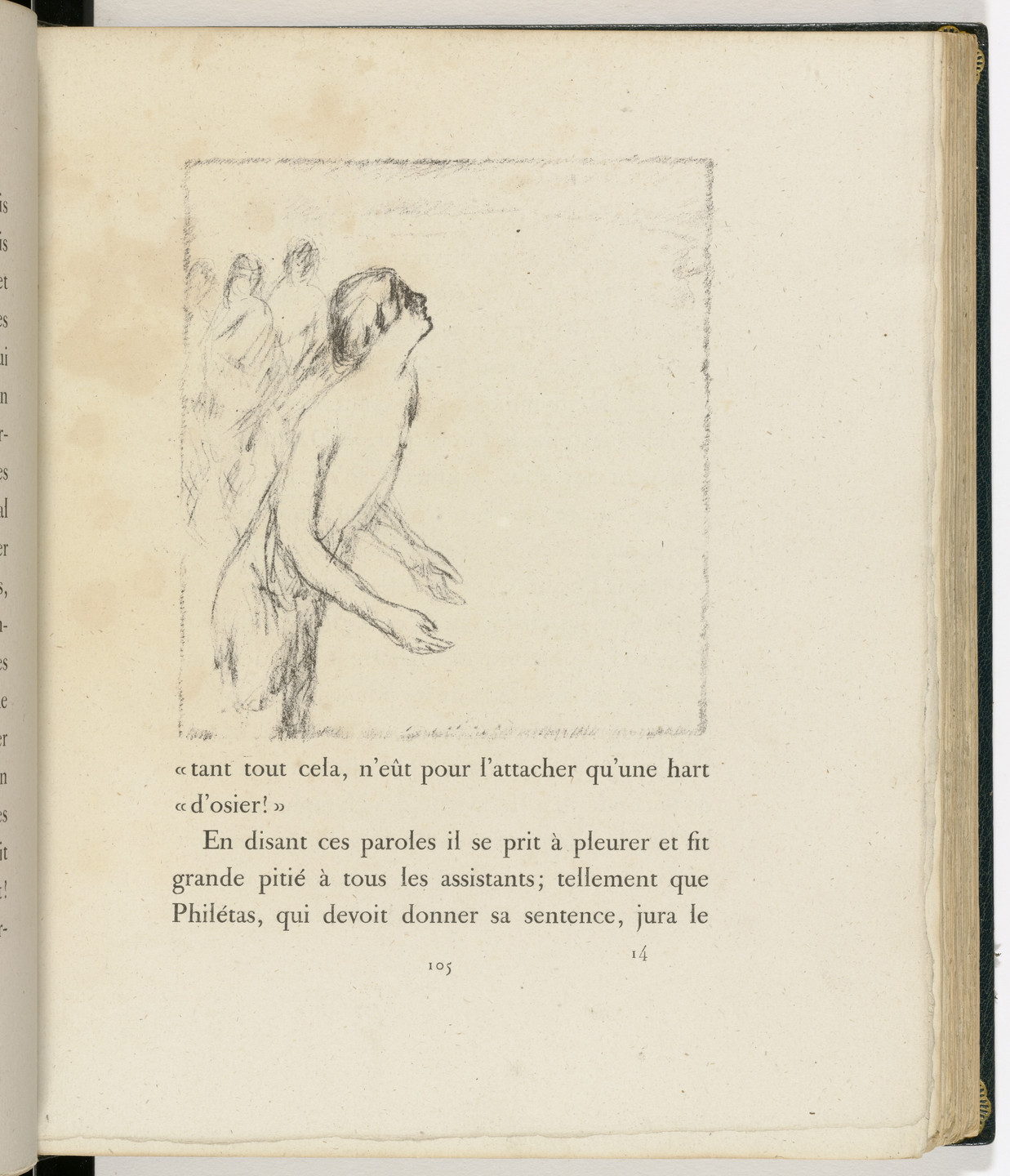 Pierre Bonnard. In-text plate (page 105) from Daphnis et Chloé. 1902