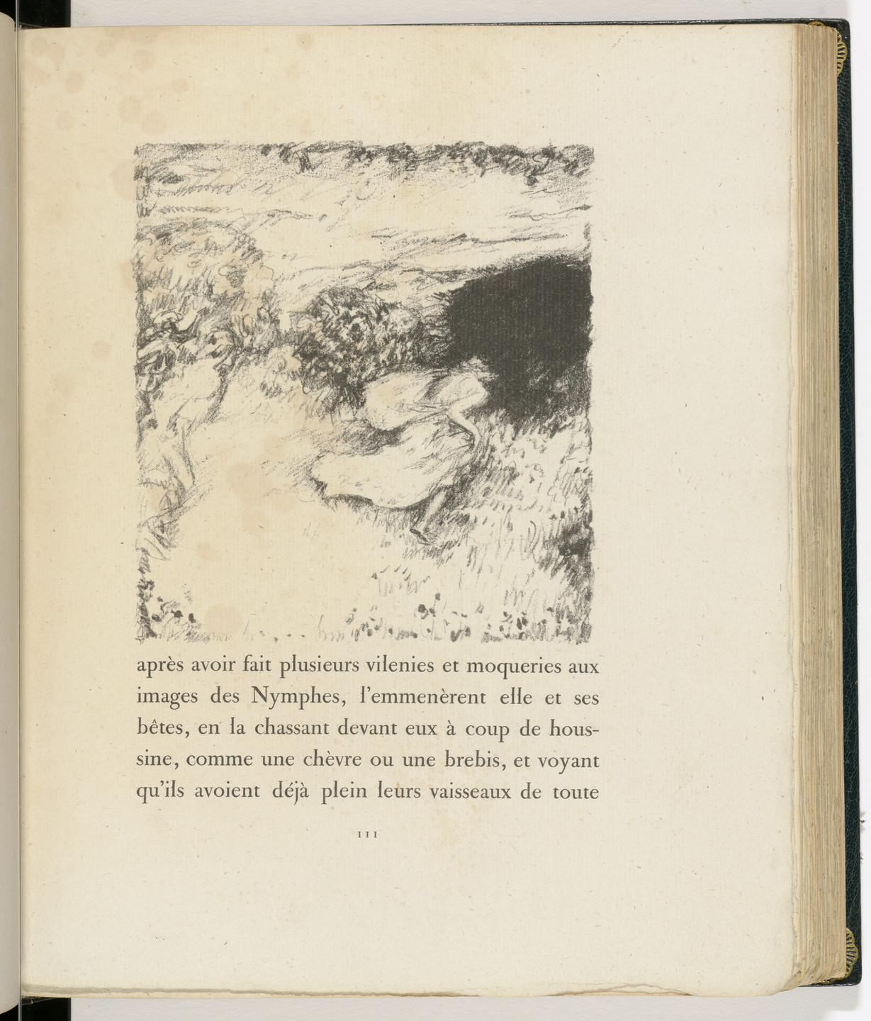 Pierre Bonnard. In-text plate (page 111) from Daphnis et Chloé. 1902