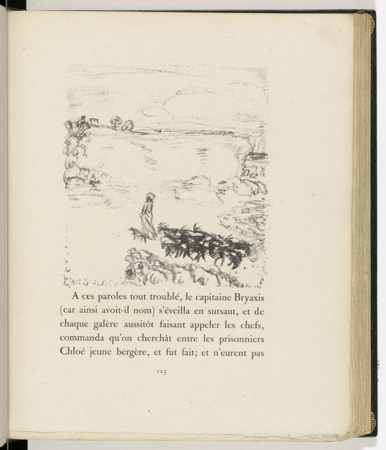 Pierre Bonnard. In-text plate (page 125) from Daphnis et Chloé. 1902