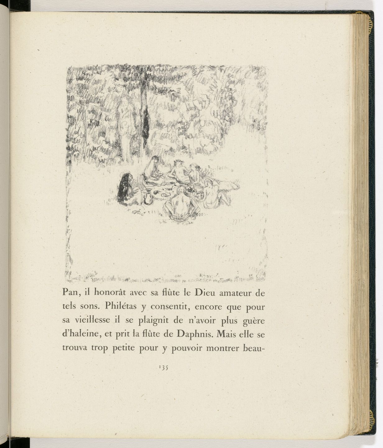Pierre Bonnard. In-text plate (page 135) from Daphnis et Chloé. 1902