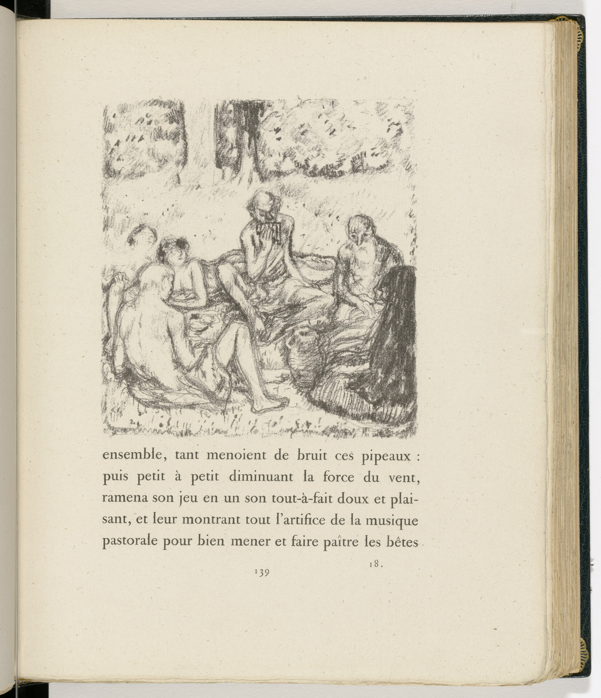 Pierre Bonnard. In-text plate (page 139) from Daphnis et Chloé. 1902
