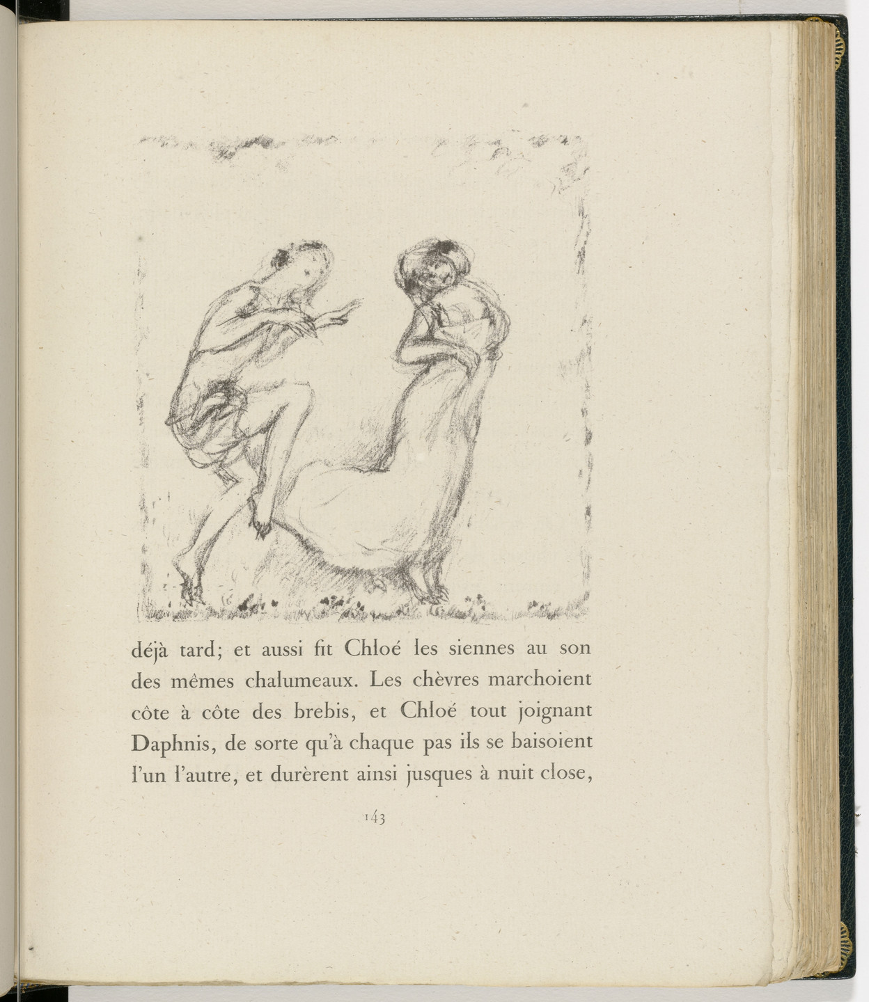 Pierre Bonnard. In-text plate (page 143) from Daphnis et Chloé. 1902