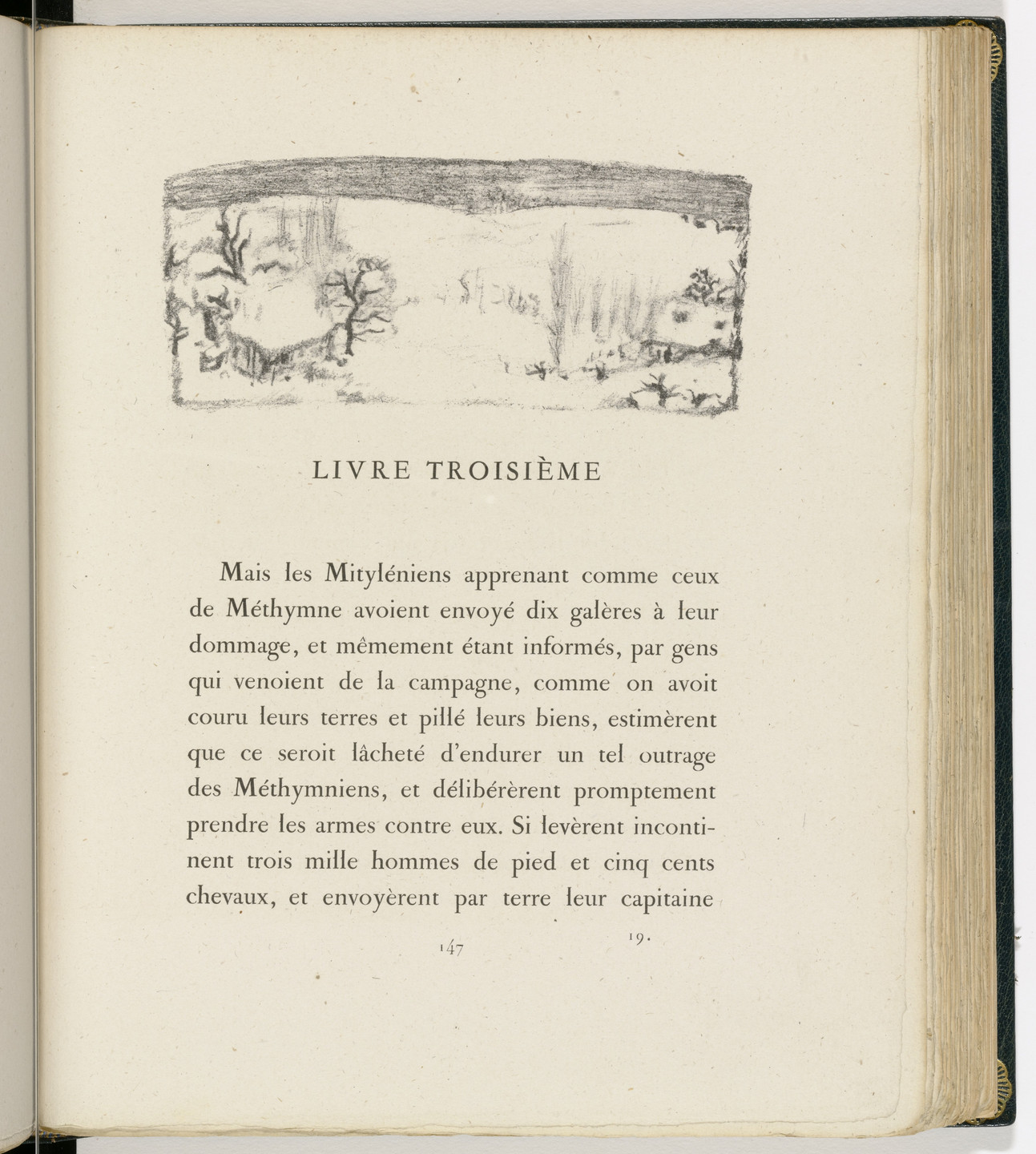 Pierre Bonnard. Headpiece (page 147) from Daphnis et Chloé. 1902