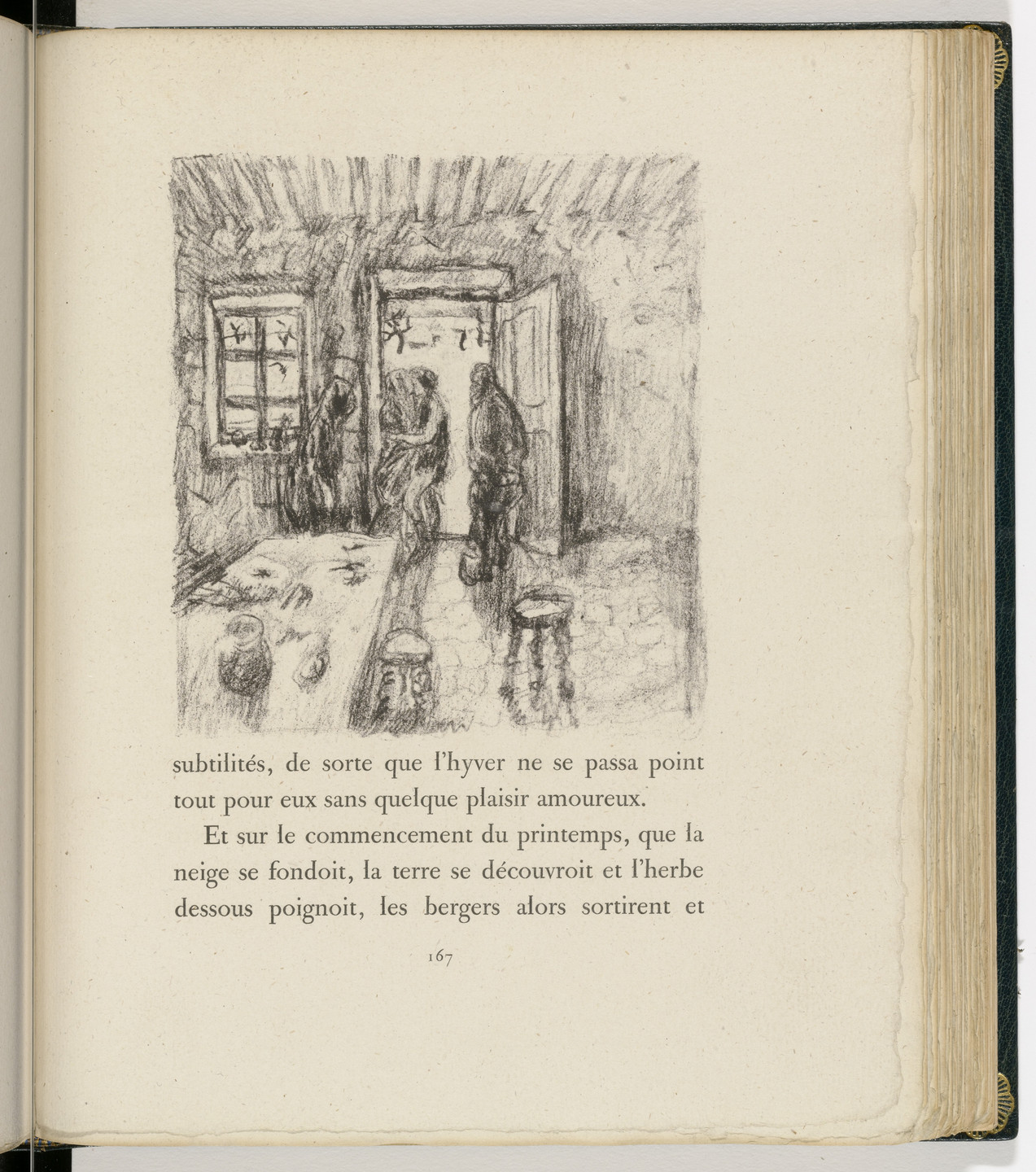 Pierre Bonnard. In-text plate (page 167) from Daphnis et Chloé. 1902