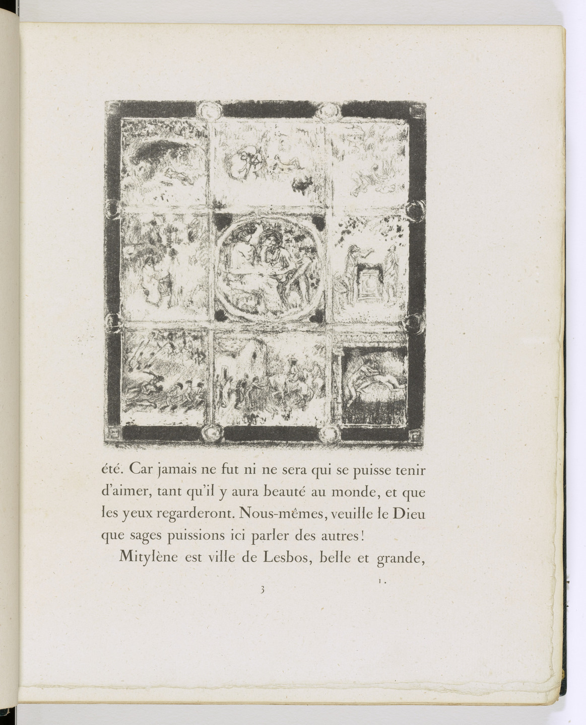 Pierre Bonnard. In-text plate (page 3) from Daphnis et Chloé. 1902