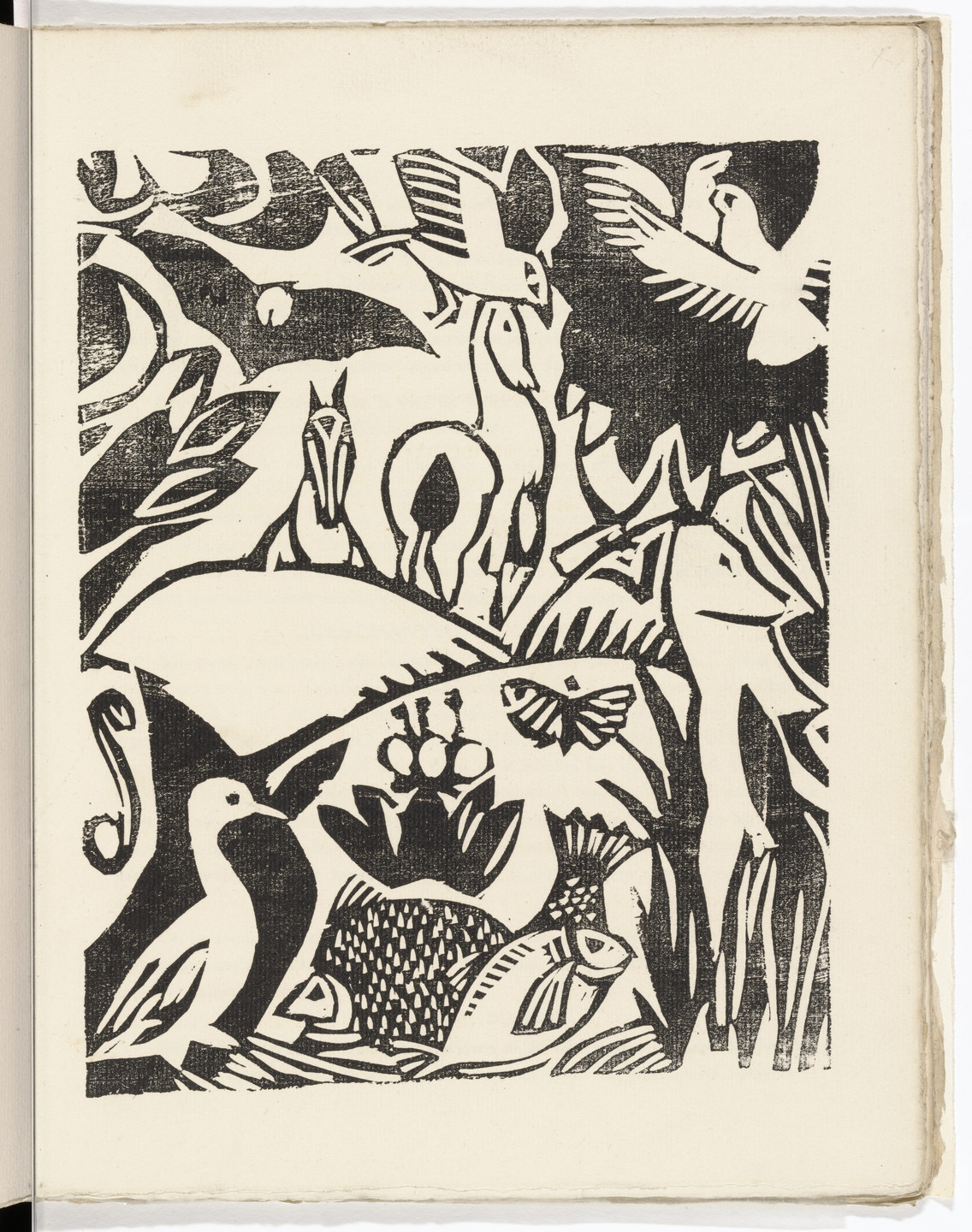André Derain. Plate (folio 23) from L'Enchanteur pourrissant. 1909