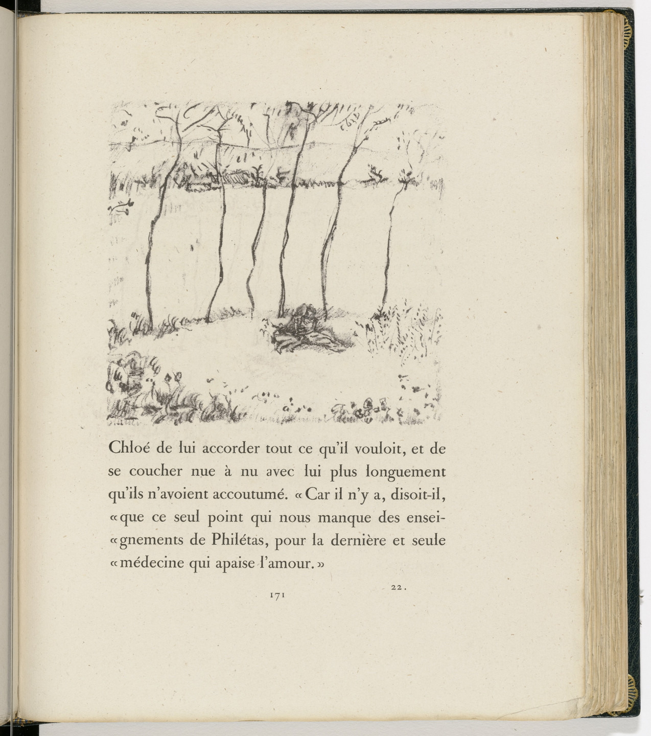 Pierre Bonnard. In-text plate (page 171) from Daphnis et Chloé. 1902