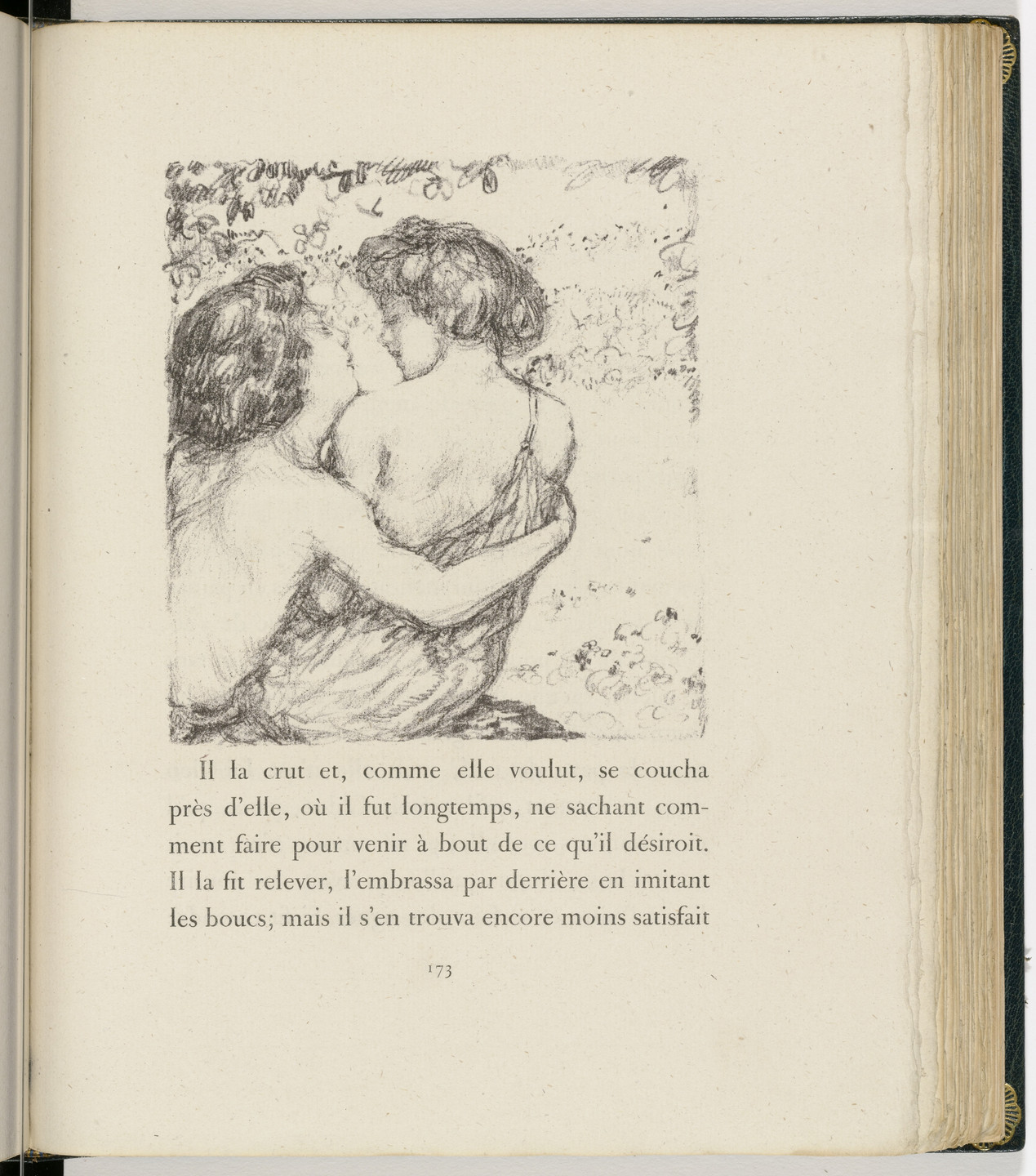 Pierre Bonnard. In-text plate (page 173) from Daphnis et Chloé. 1902
