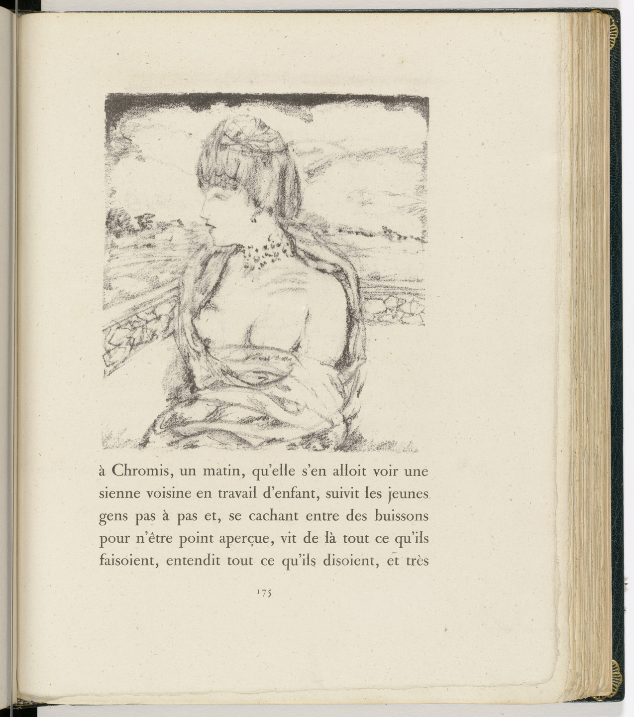 Pierre Bonnard. In-text plate (page 175) from Daphnis et Chloé. 1902