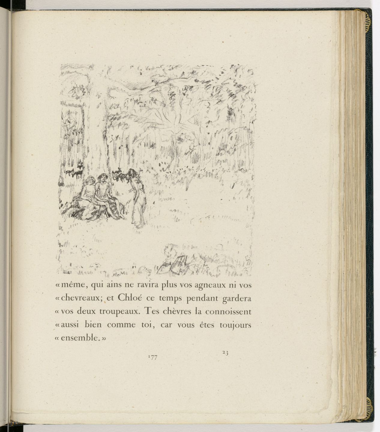 Pierre Bonnard. In-text plate (page 177) from Daphnis et Chloé. 1902