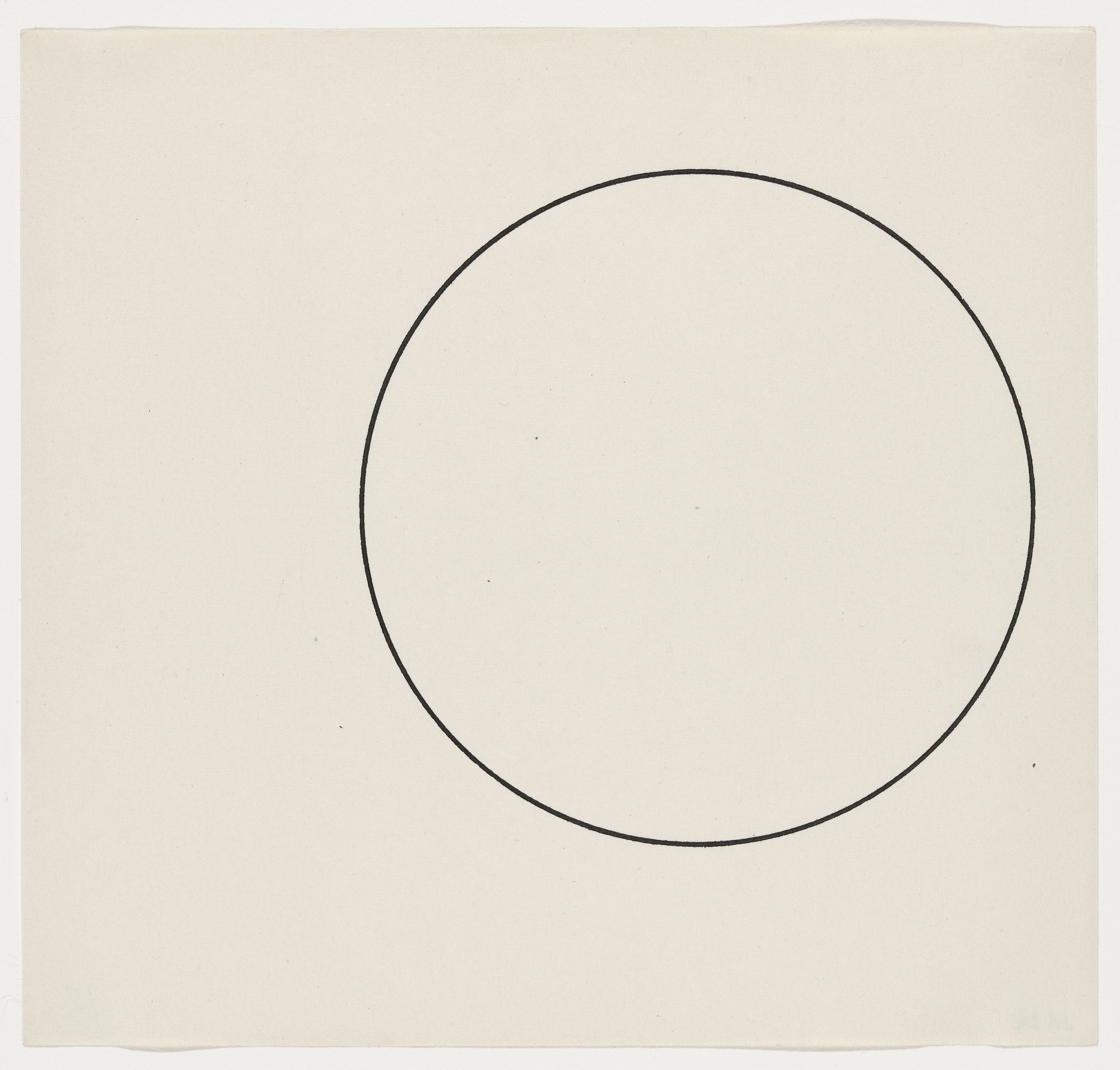 Ellsworth Kelly. Circle Line. 1951