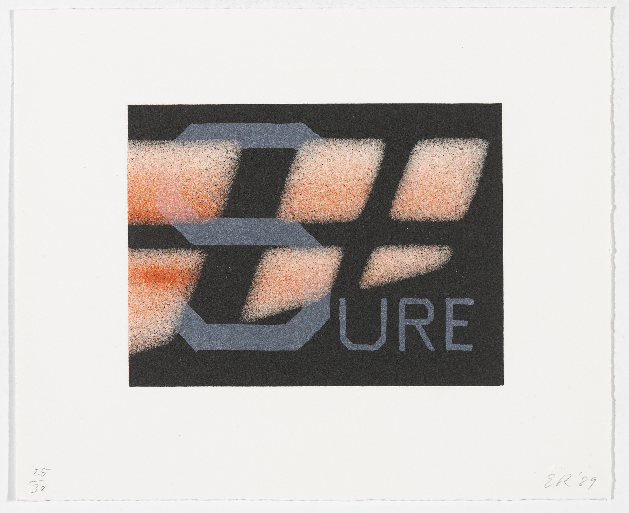 Edward Ruscha. Sure from That Is Right And Other Similarities. 1989