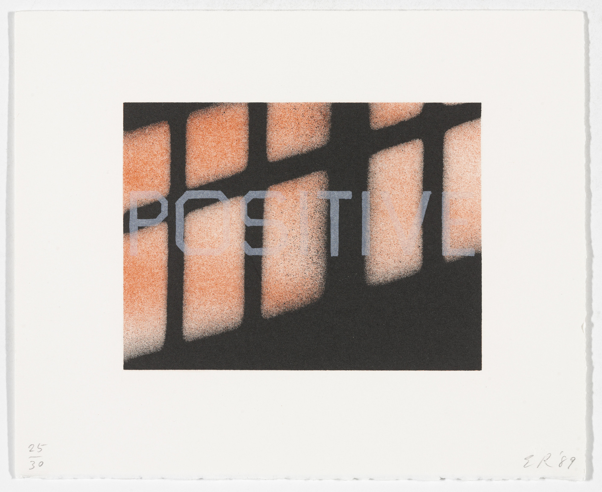 Edward Ruscha. Positive from That Is Right And Other Similarities. 1989
