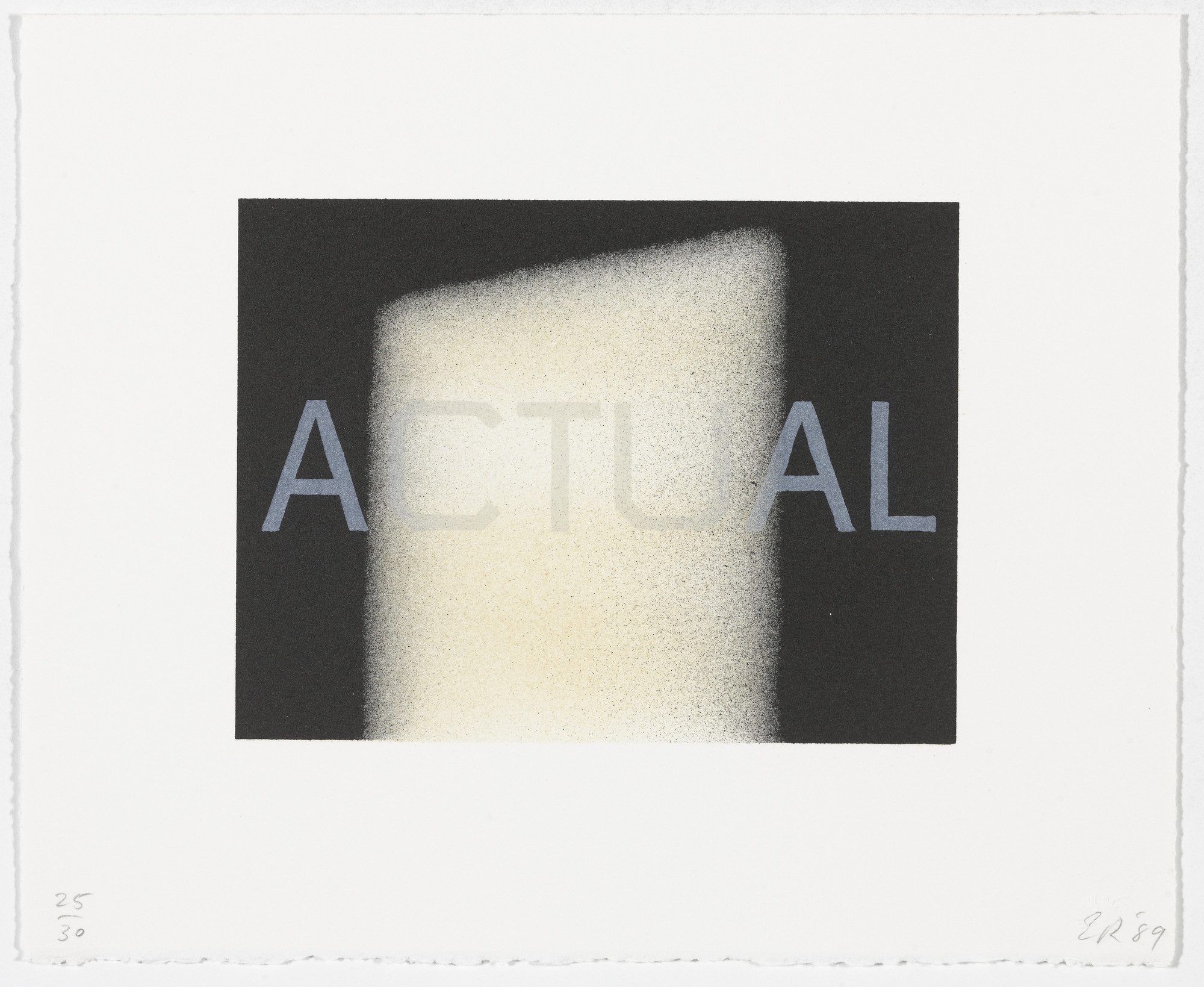 Edward Ruscha. Actual from That Is Right And Other Similarities. 1989