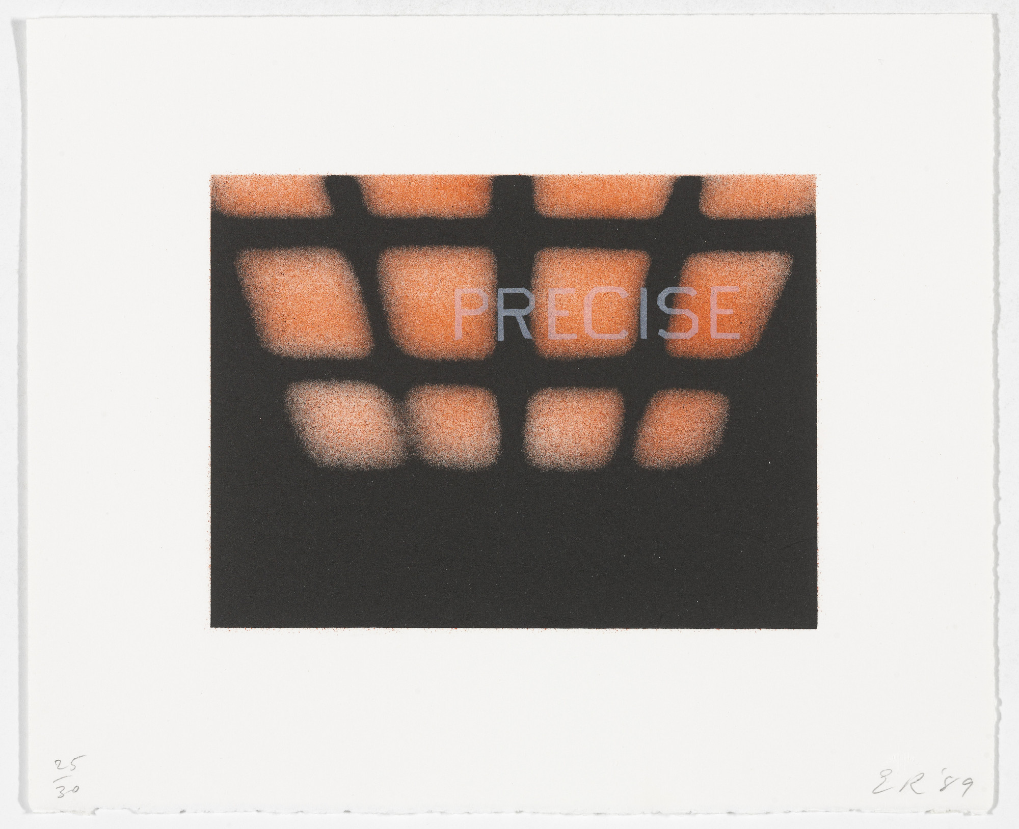 Edward Ruscha. Precise from That Is Right And Other Similarities. 1989