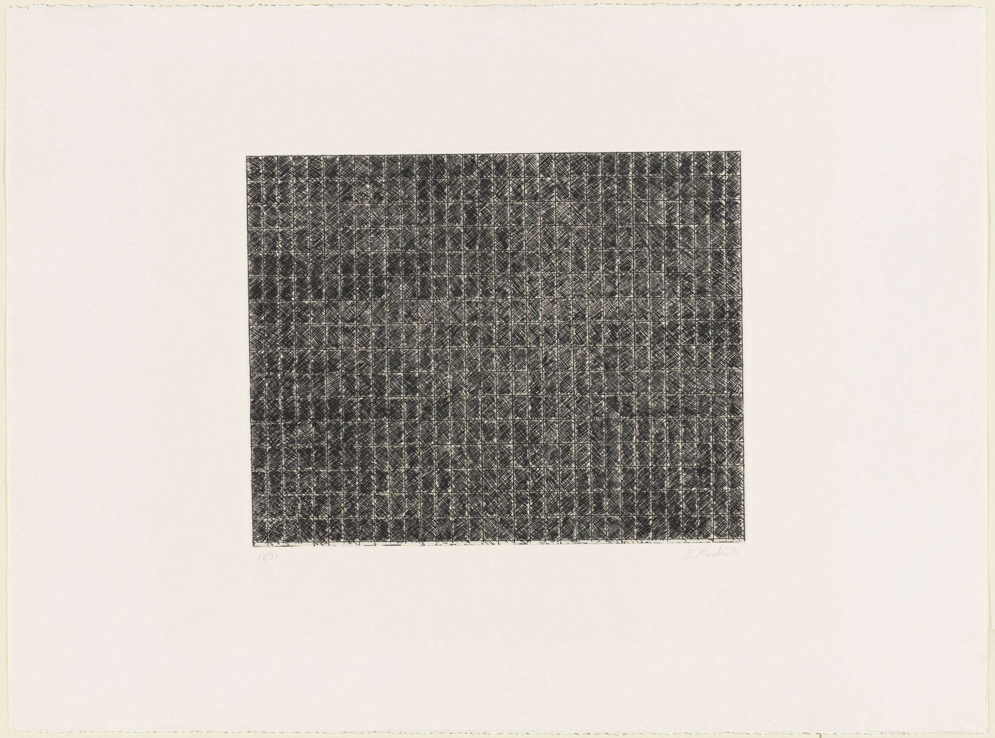 Brice Marden. Untitled from Ten Days. 1971, published 1972