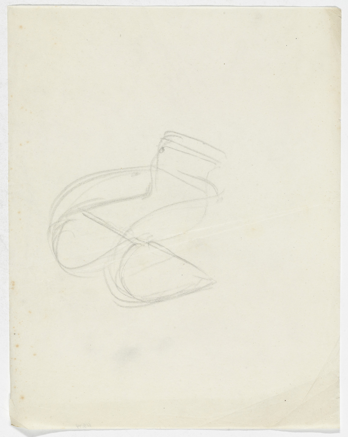 Ludwig Mies van der Rohe. MR20 Chair (Perspective sketch). early 1930s