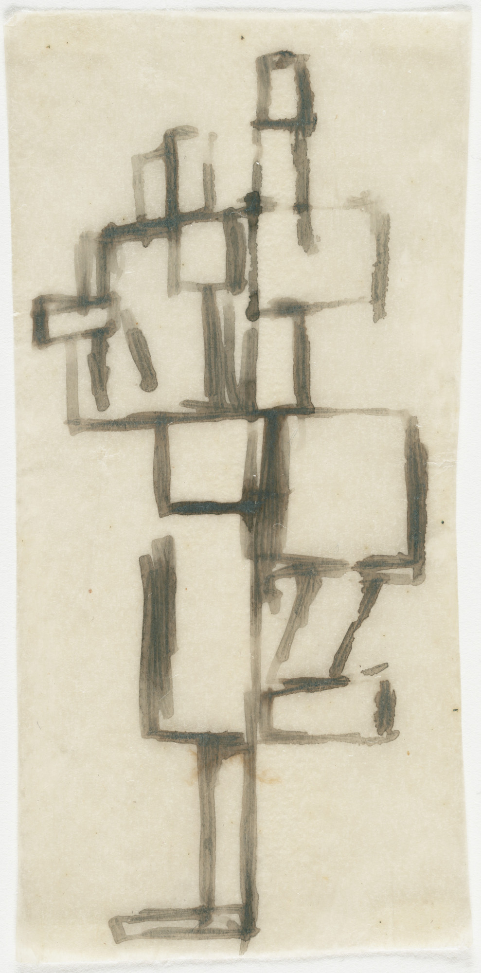 Theo van Doesburg. Seven studies for the painting Rhythm of a Russian Dance. (1917-18)