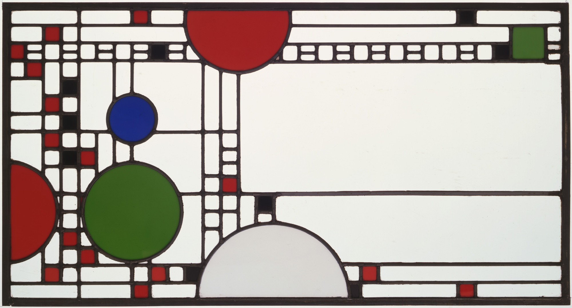 Frank Lloyd Wright. Clerestory windows from the Avery Coonley Playhouse, Riverside, IL. 1912