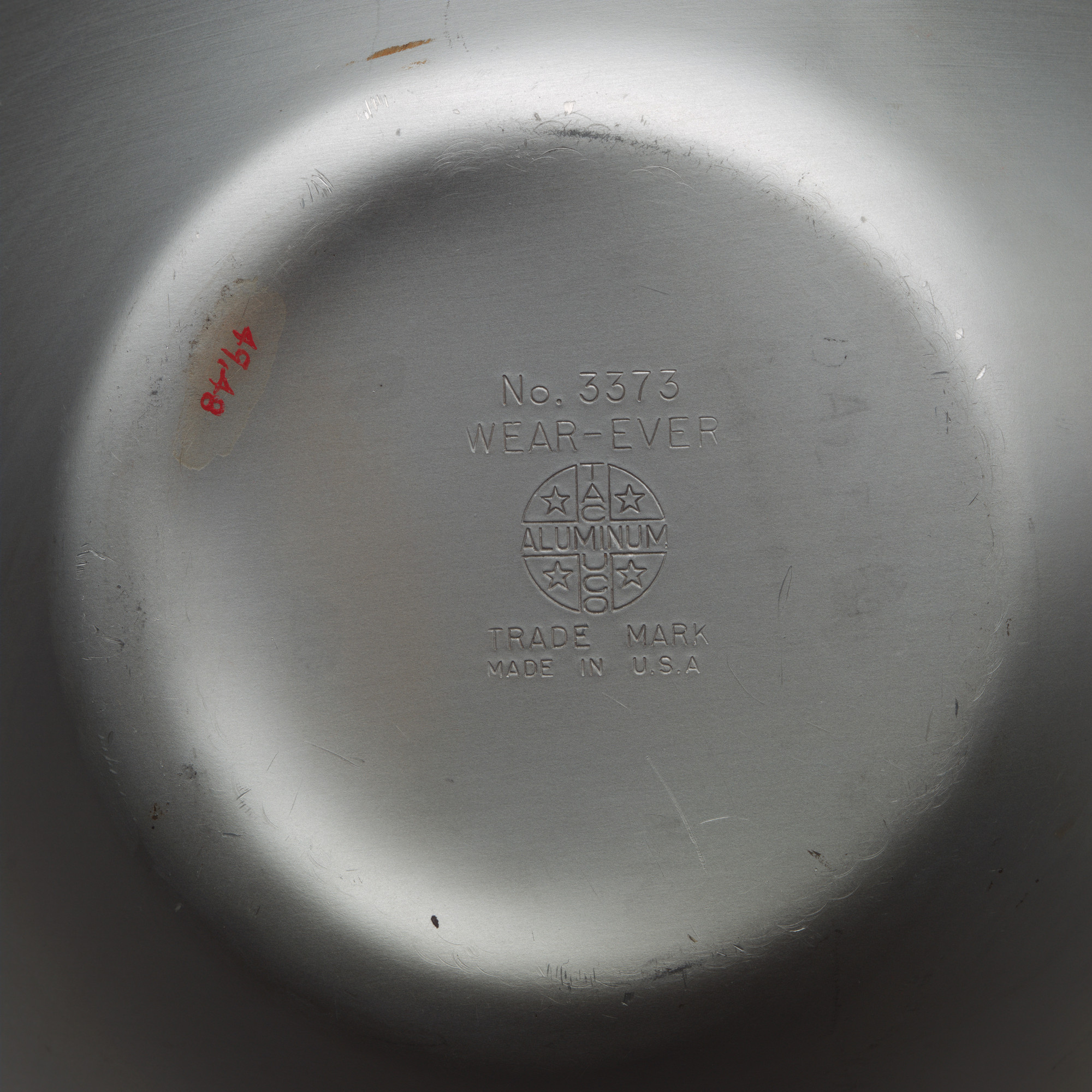 The Aluminum Cooking Utensil Co., New York, NY. Wear-Ever Mixing Bowl. Unknown