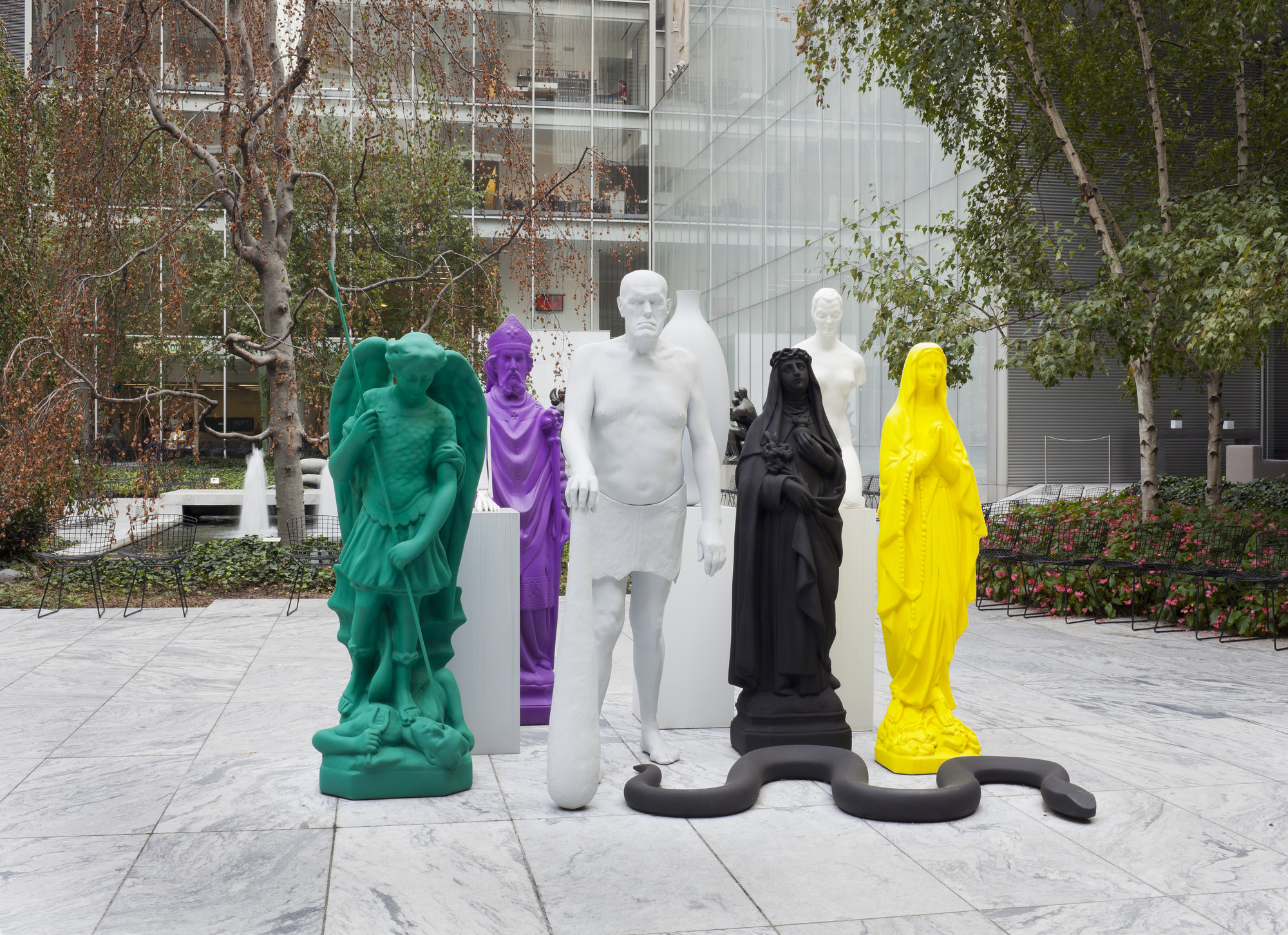 Katharina Fritsch. Group of Figures. 2006-08 (fabricated 2010-11)