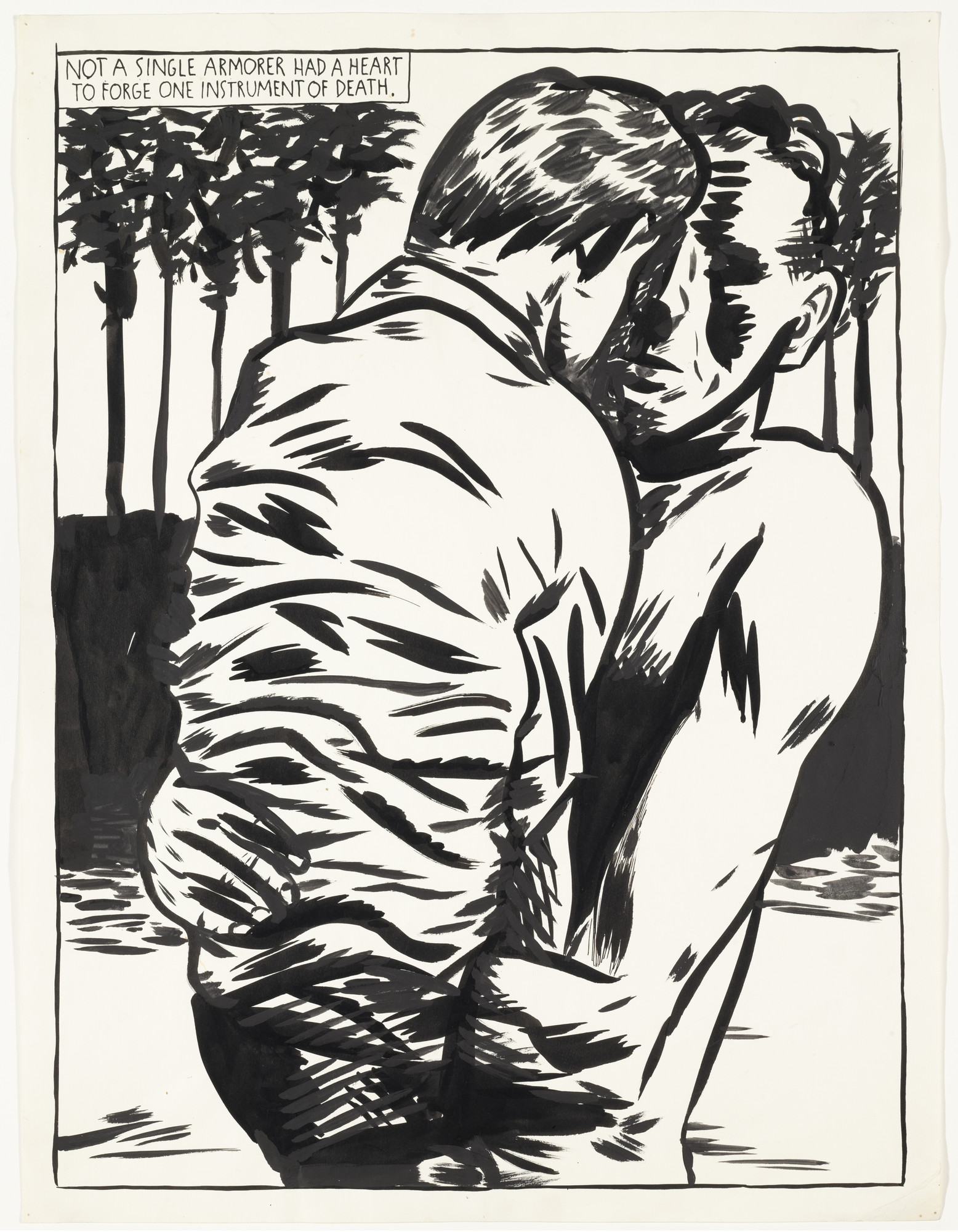 Raymond Pettibon. No Title (Not a single armorer...). 1990