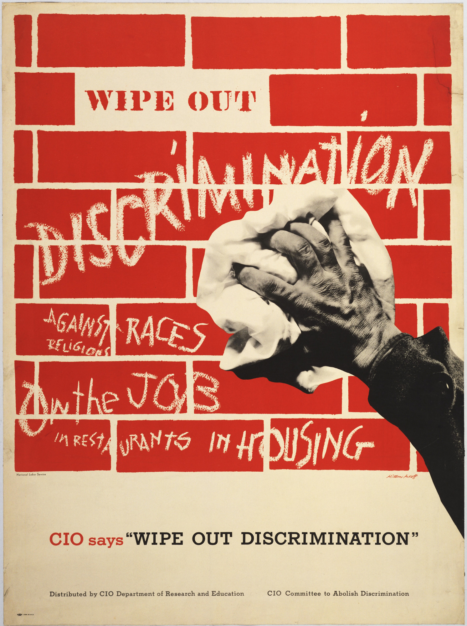 Milton Ackoff. Wipe Out Discrimination. 1949
