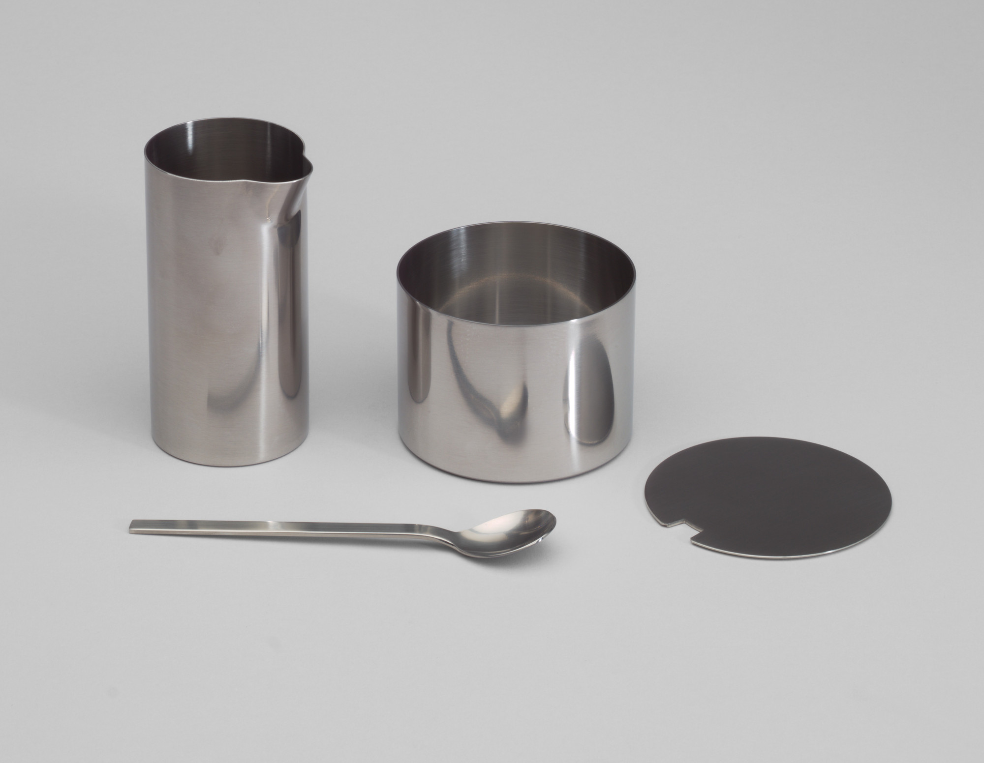 Arne Jacobsen. Cylinda Sugar Bowl and Creamer. 1964-67
