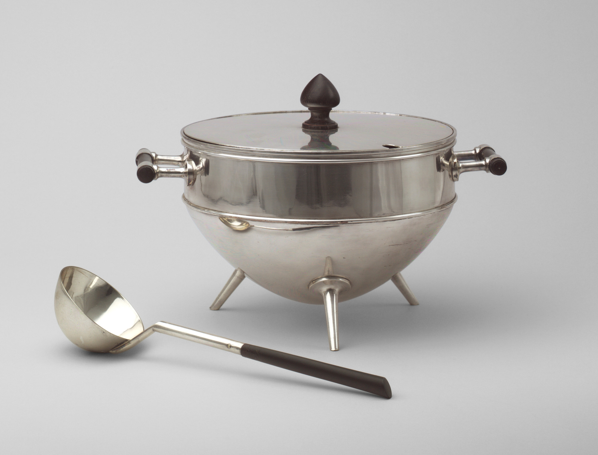 Christopher Dresser. Covered Soup Tureen and Ladle. 1880