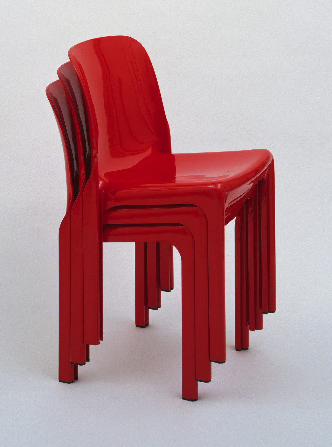 Vico Magistretti. Selene Stacking Chairs. 1968