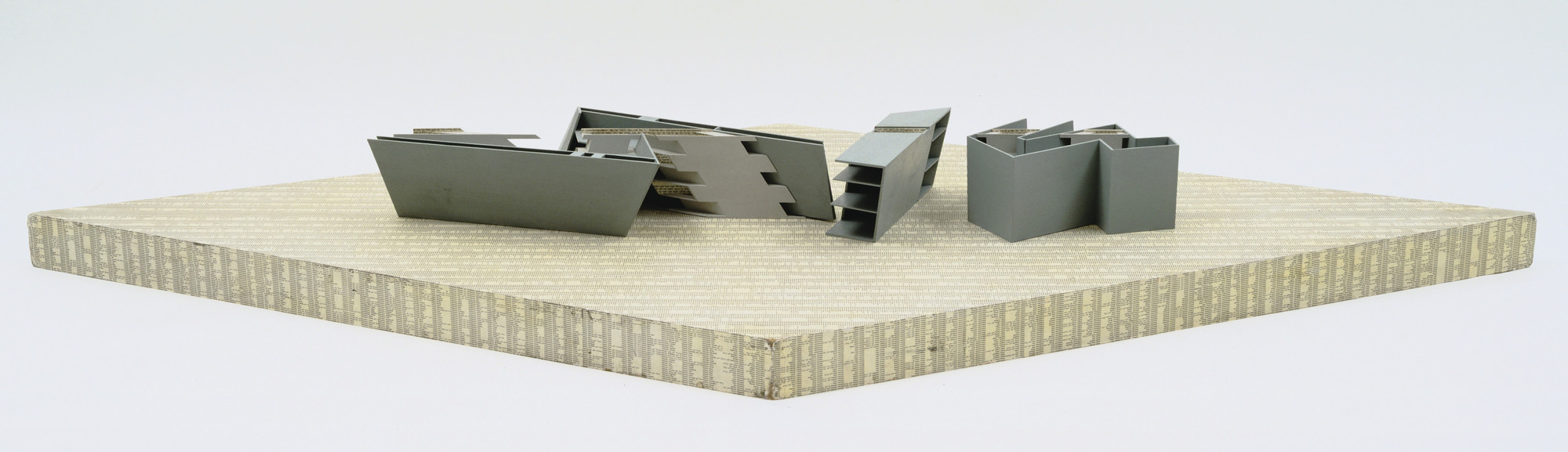 Daniel Libeskind. Berlin Museum with the Jewish Museum, Scale model 1:100. 1989-2001
