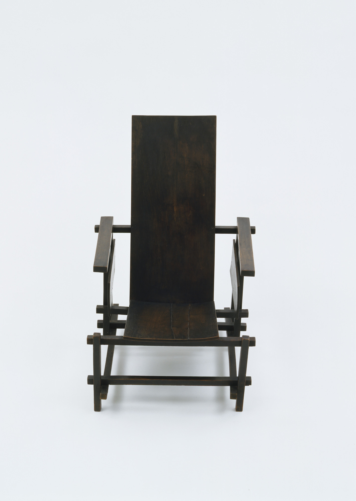 Gerrit Rietveld. Prototype for Red/Blue Chair. 1917-18