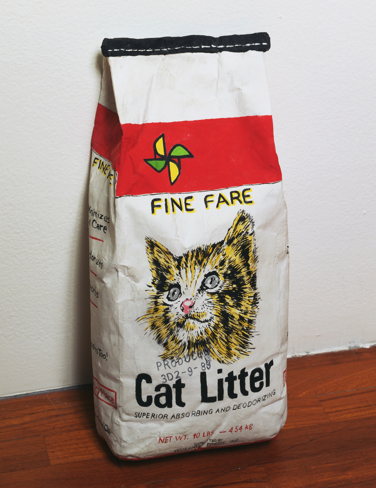 Robert Gober. Cat Litter. 1989