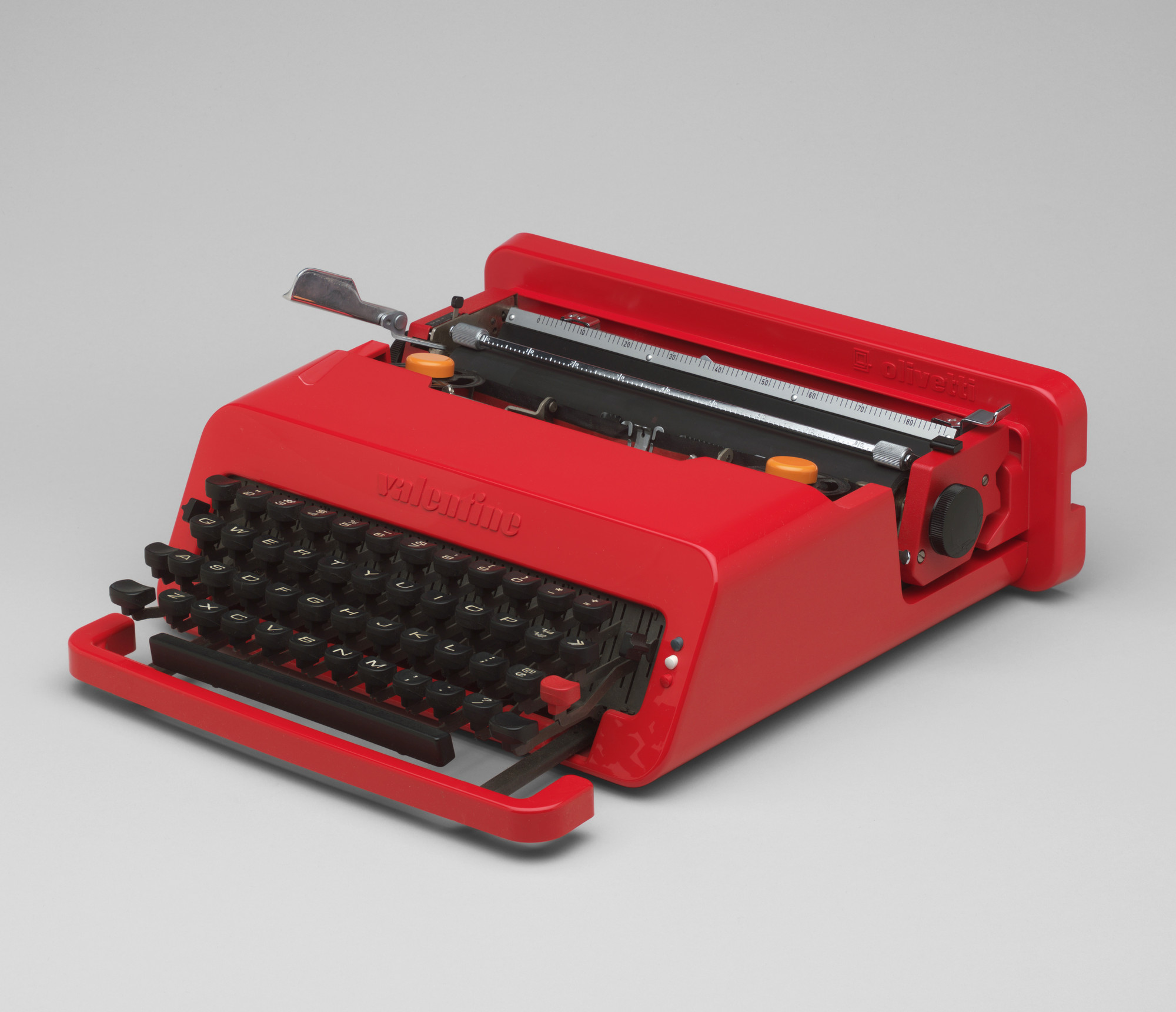 Ettore Sottsass, Perry King. Valentine Portable Typewriter. 1968