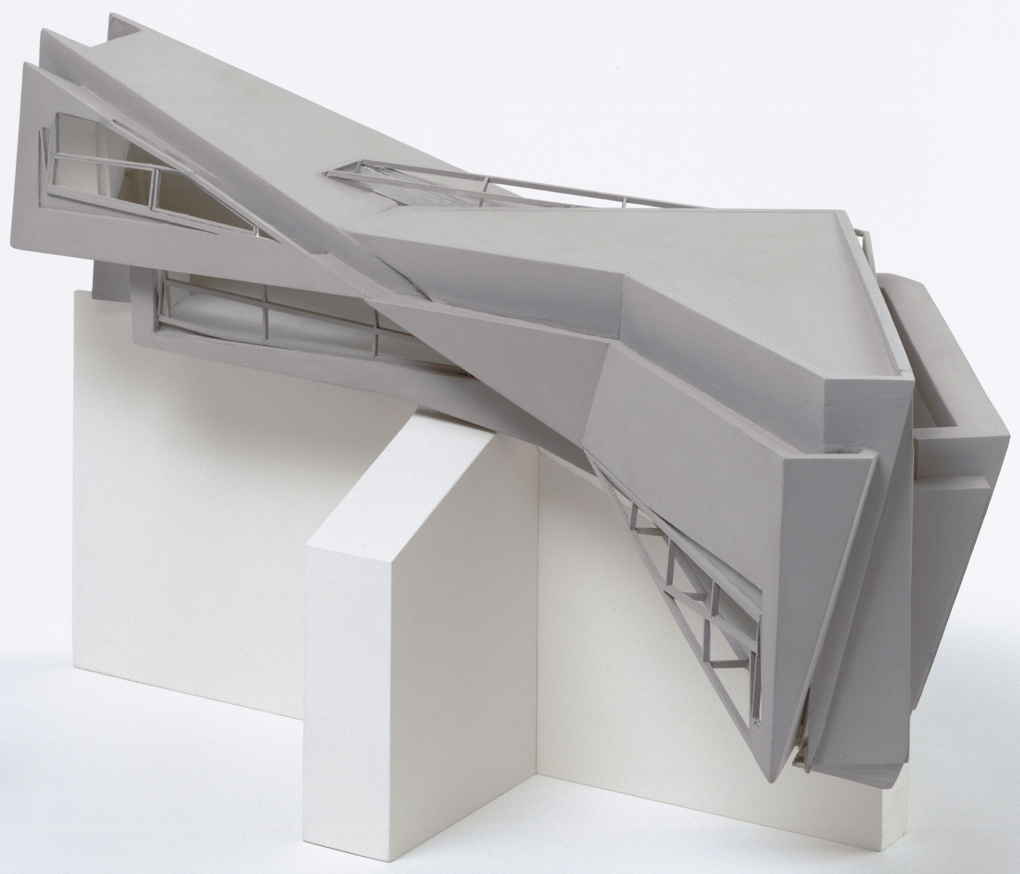 "Thomas Leeser. Twin House, Liberty, New York, Scale model 1/4""=1'. 1990-91"