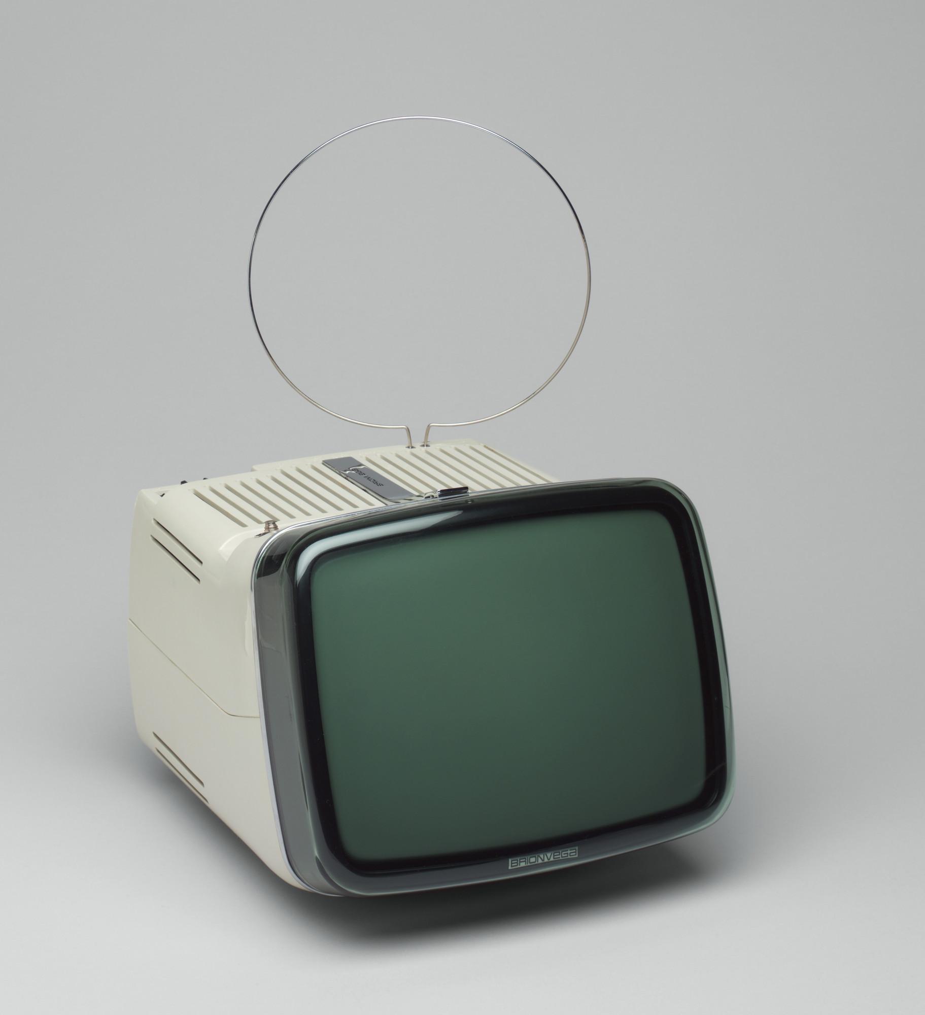 Marco Zanuso Richard Sapper Algol 11 Black And White Television  # Television Moderne