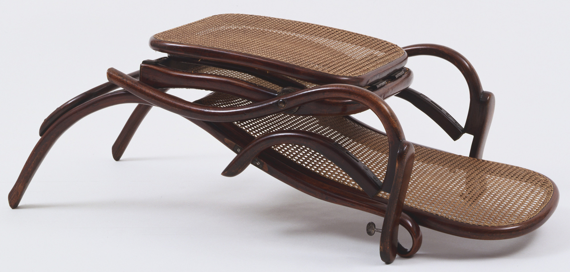 Michael Thonet. Folding Lounge Chair with Foot Rest. c. 1865