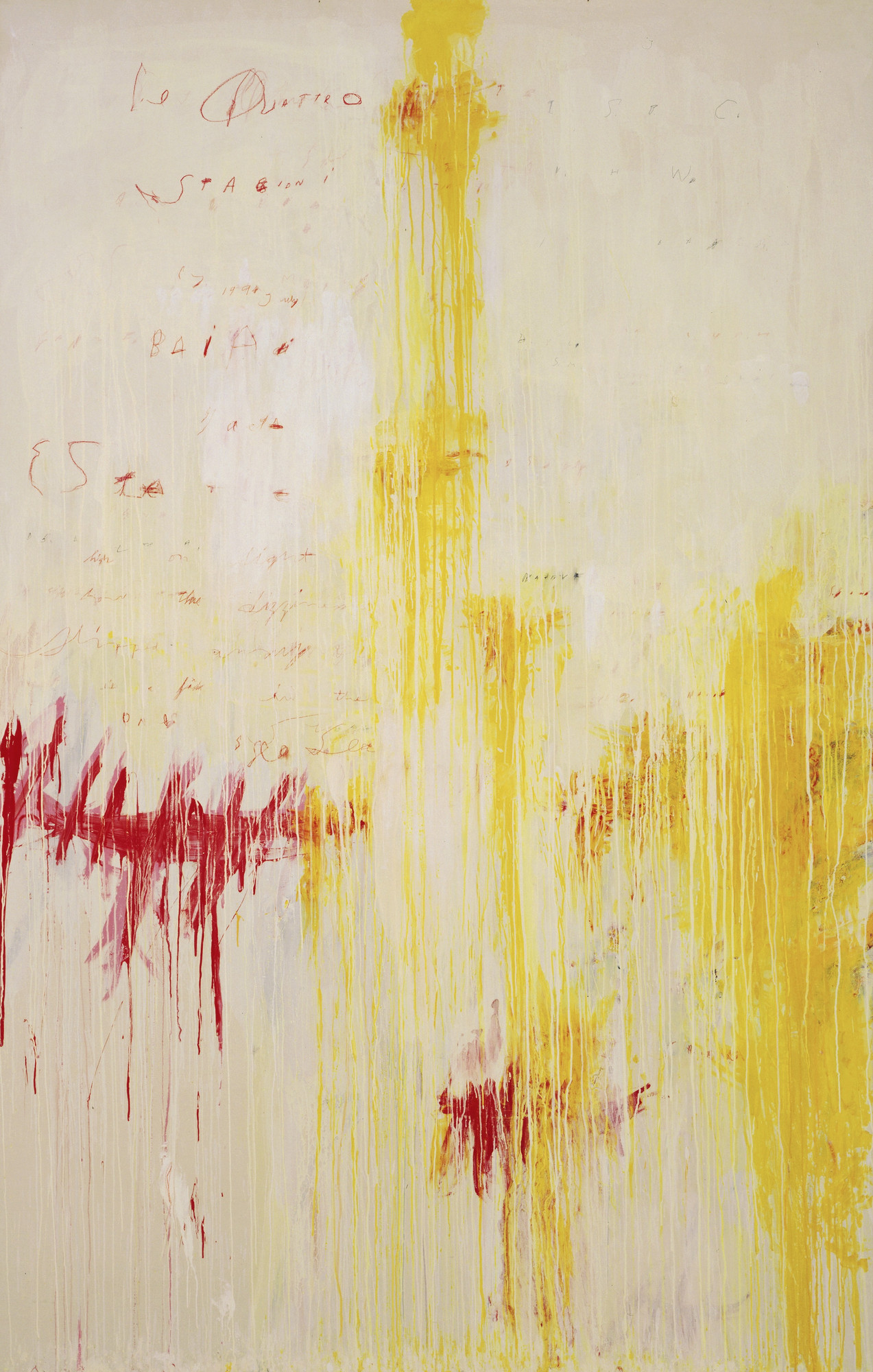 Cy Twombly. The Four Seasons: Spring, Summer, Autumn, and Winter. 1993-94