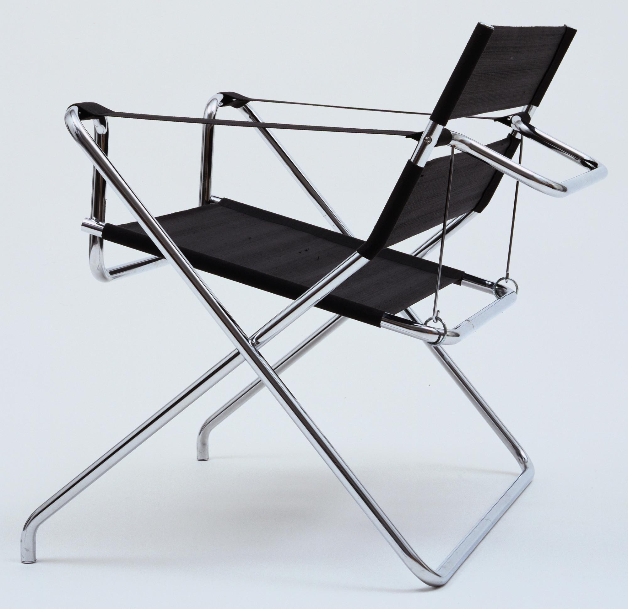 Marcel Breuer Folding Armchair model B4 Designed 1927 this