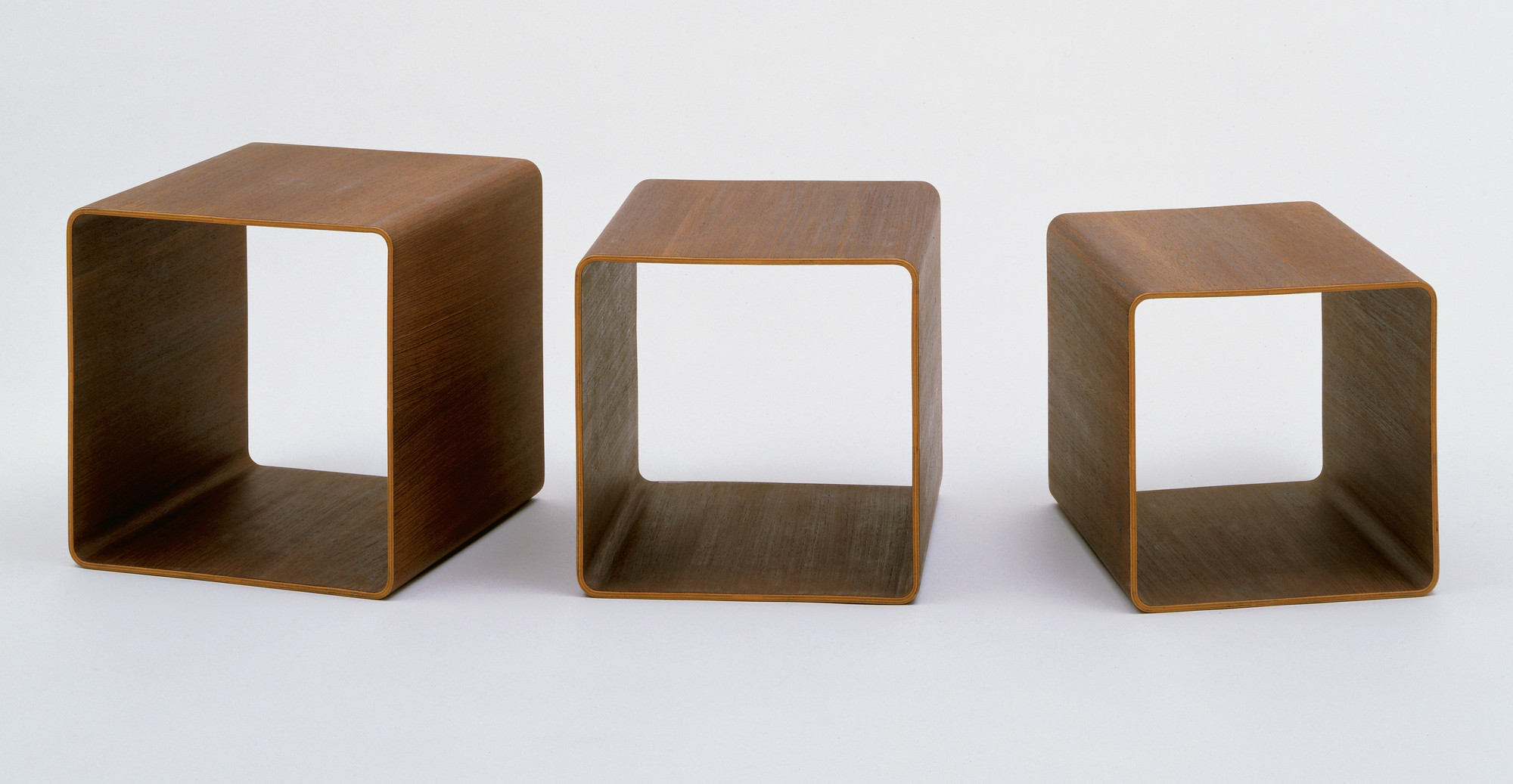 Verner Panton. Nesting Stool-Tables. 1966