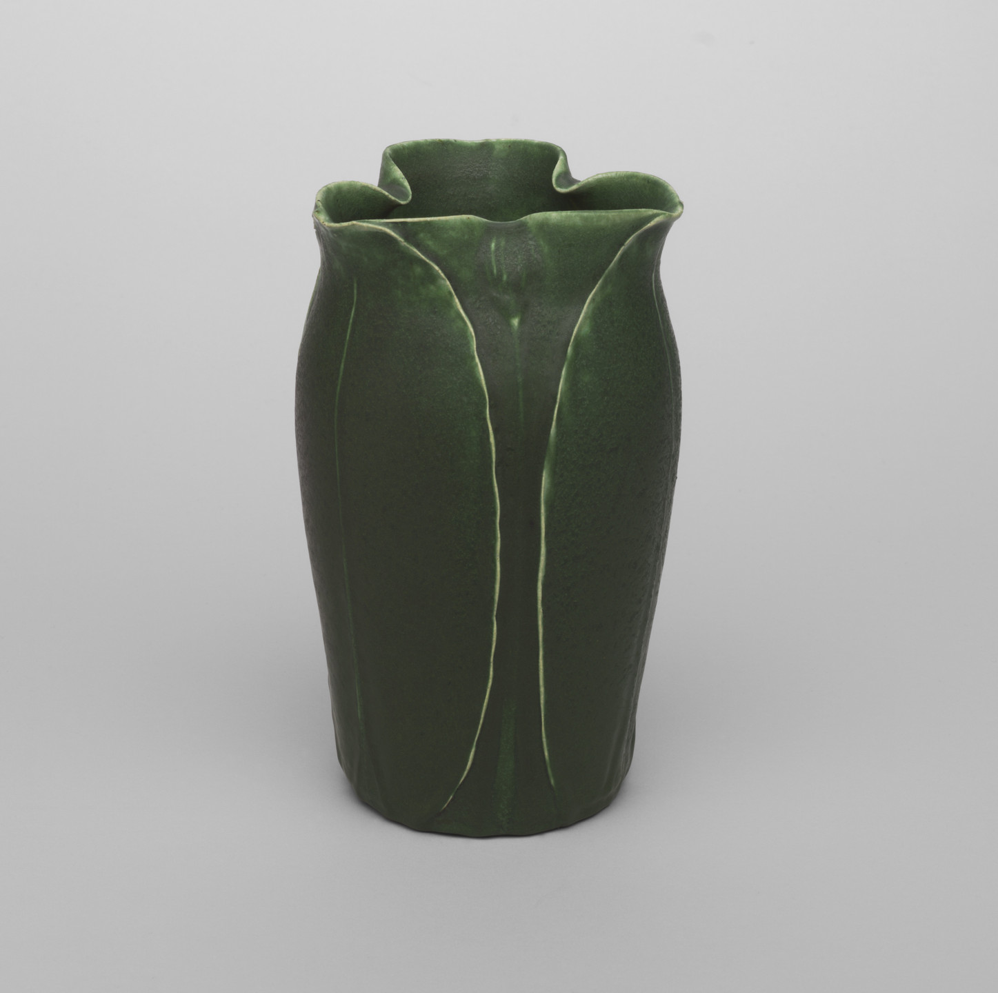 Grueby Faience Company, Boston, MA. Vase. c. 1898-1902