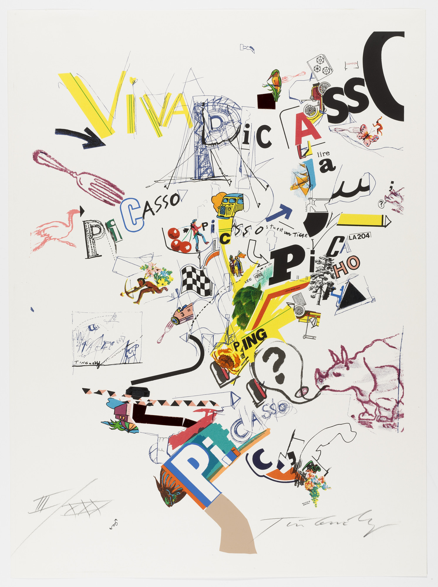 Jean Tinguely. Viva Picasso from Homage to Picasso (Hommage à Picasso). 1973