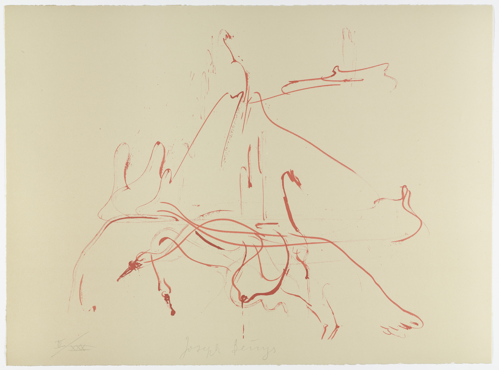 Joseph Beuys. Untitled from Homage to Picasso (Hommage à Picasso). 1973