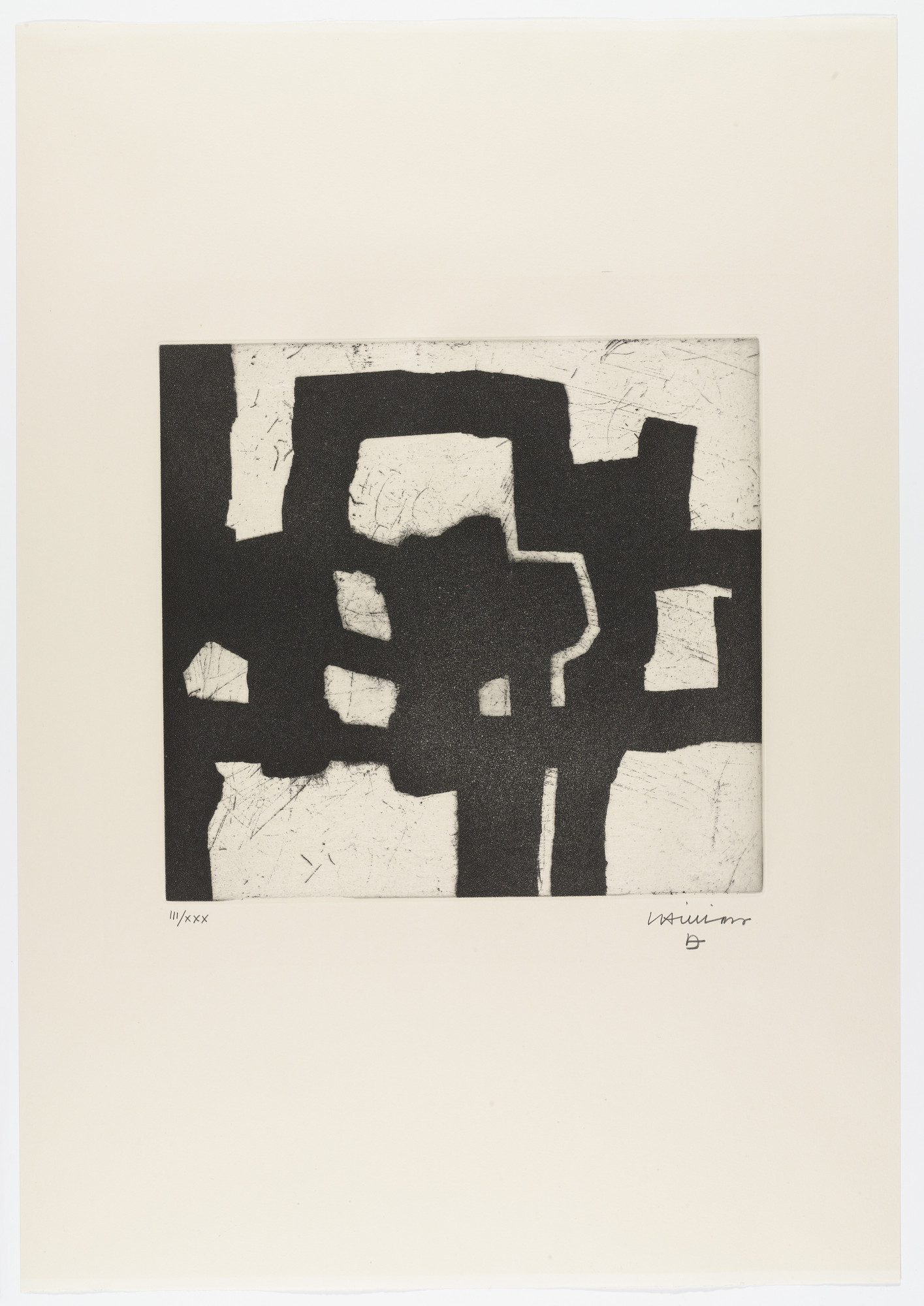 Eduardo Chillida. Untitled from Homage to Picasso (Hommage à Picasso). 1973