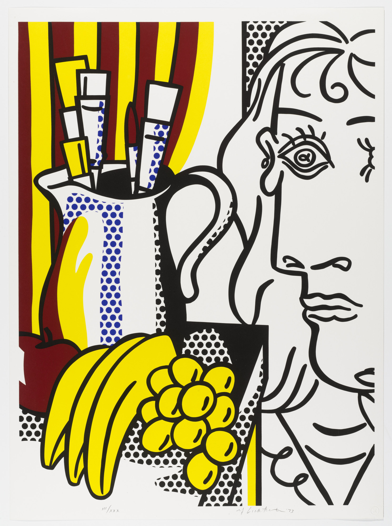 Roy Lichtenstein. Still Life with Picasso from Homage to Picasso (Hommage à Picasso). 1973