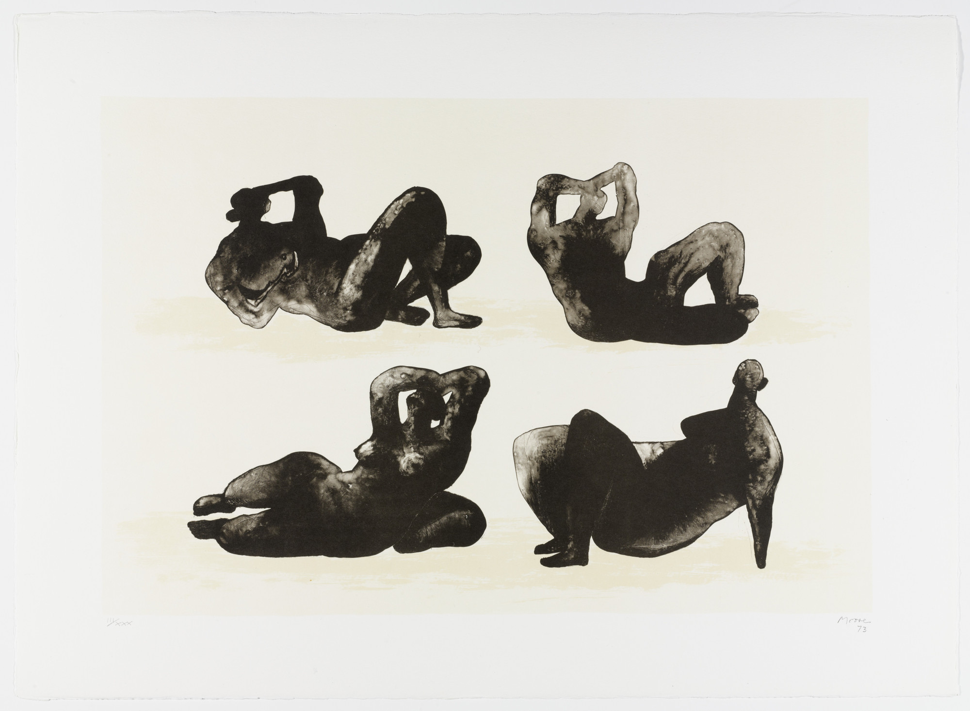 Henry Moore. Four Reclining Figures from Homage to Picasso (Hommage à Picasso). 1973