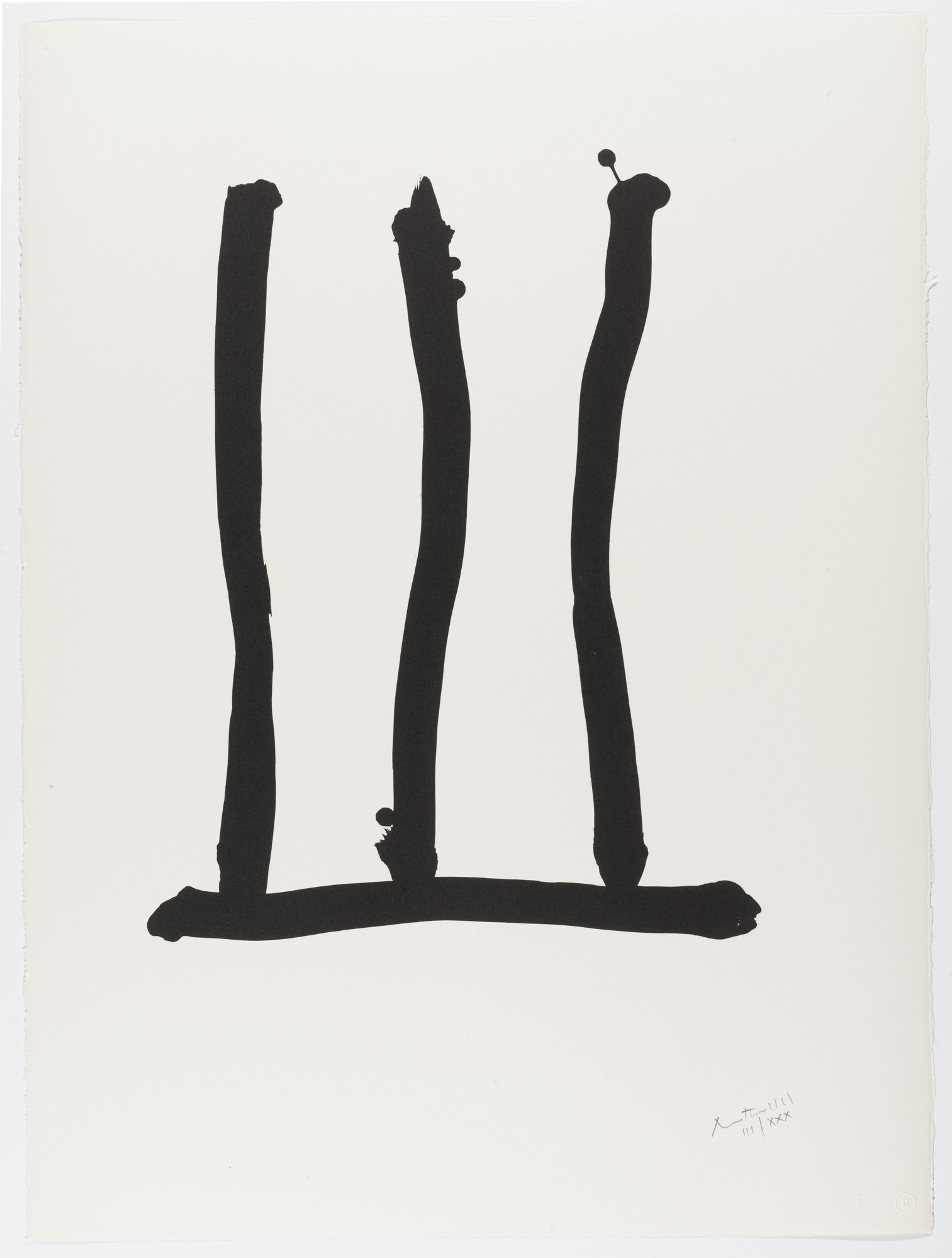 Robert Motherwell. Window from Homage to Picasso (Hommage à Picasso). 1973