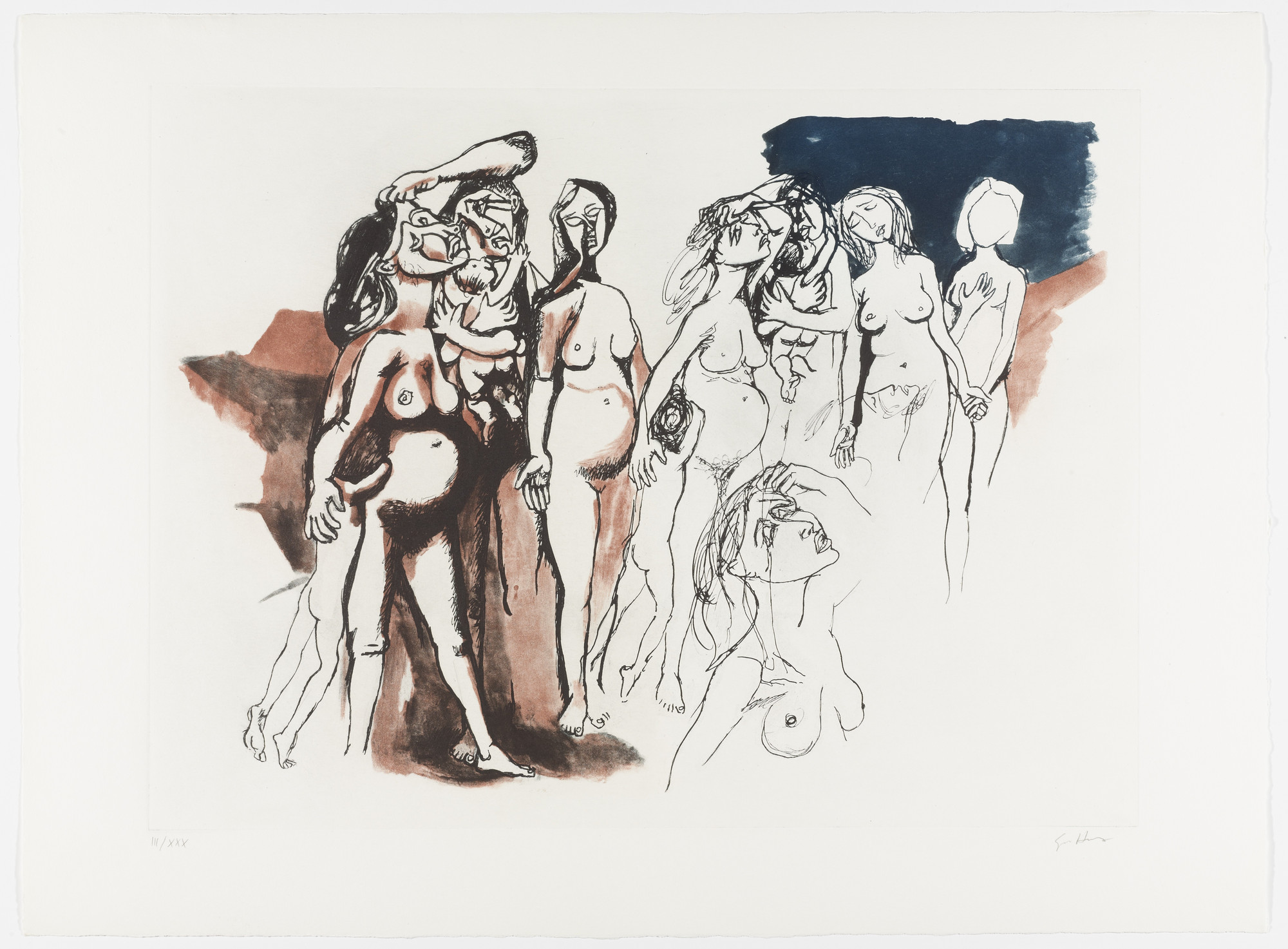 Renato Guttuso. Untitled from Homage to Picasso (Hommage à Picasso). 1973